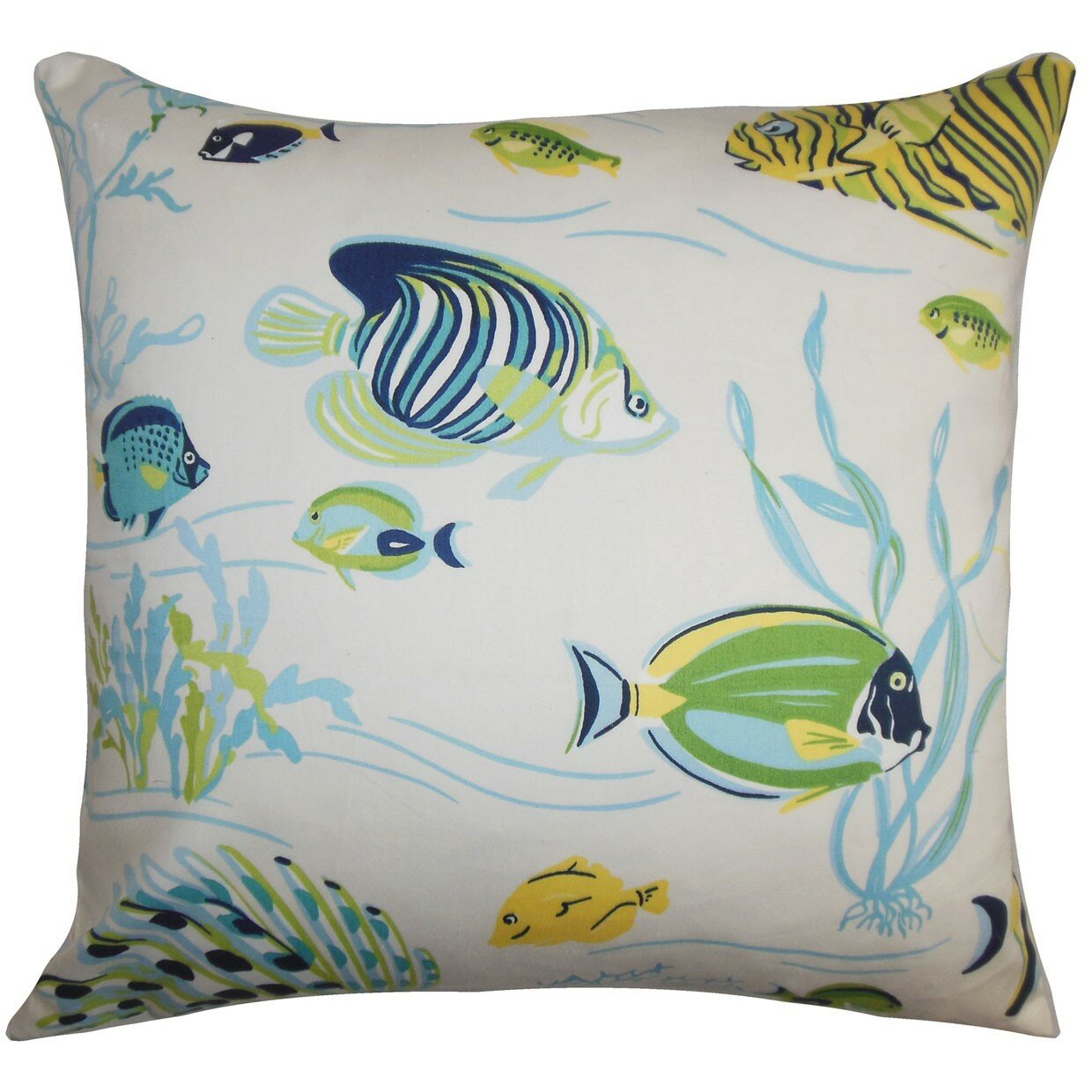 The Pillow Collection Niju Coastal Cotton Throw Pillow