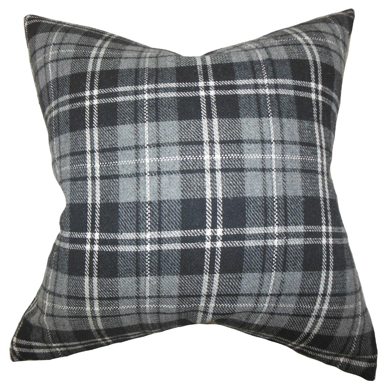Black Plaid Throw Pillows : The Pillow Collection Baxley Plaid Wool Throw Pillow & Reviews Wayfair