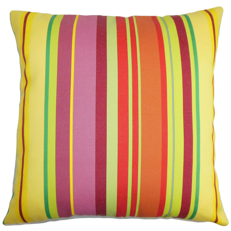 Throw Pillow Collections : The Pillow Collection Laird Stripes Outdoor Throw Pillow & Reviews Wayfair