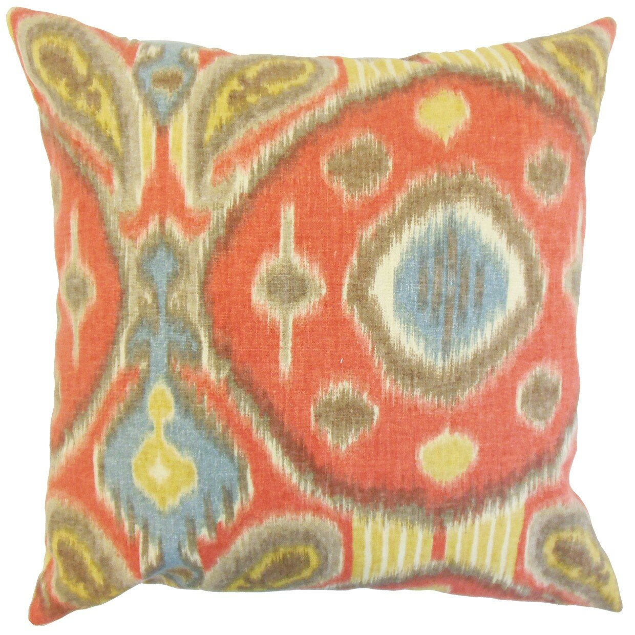 The Pillow Collection Janvier Ikat Linen Throw Pillow & Reviews Wayfair