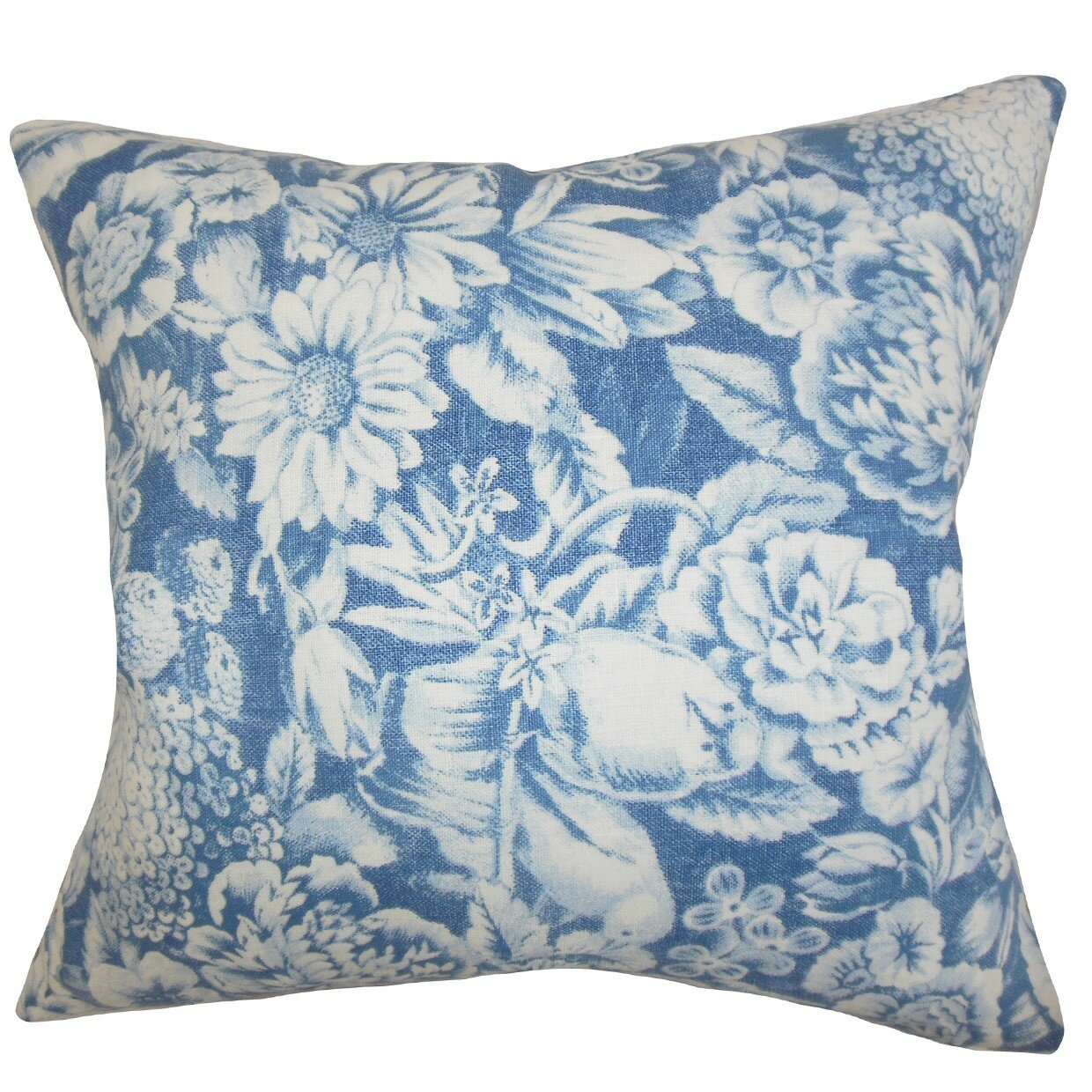 The Pillow Collection Elspeth Floral Linen Throw Pillow & Reviews Wayfair