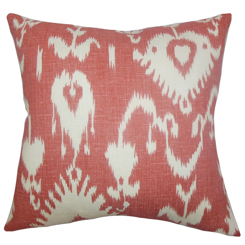 Throw Pillows Ikat : The Pillow Collection Cleon Ikat Linen Throw Pillow & Reviews Wayfair