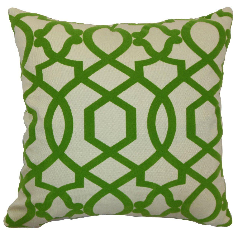 Wayfair Green Throw Pillows : The Pillow Collection Maeret Moorish Tile Cotton Throw Pillow & Reviews Wayfair