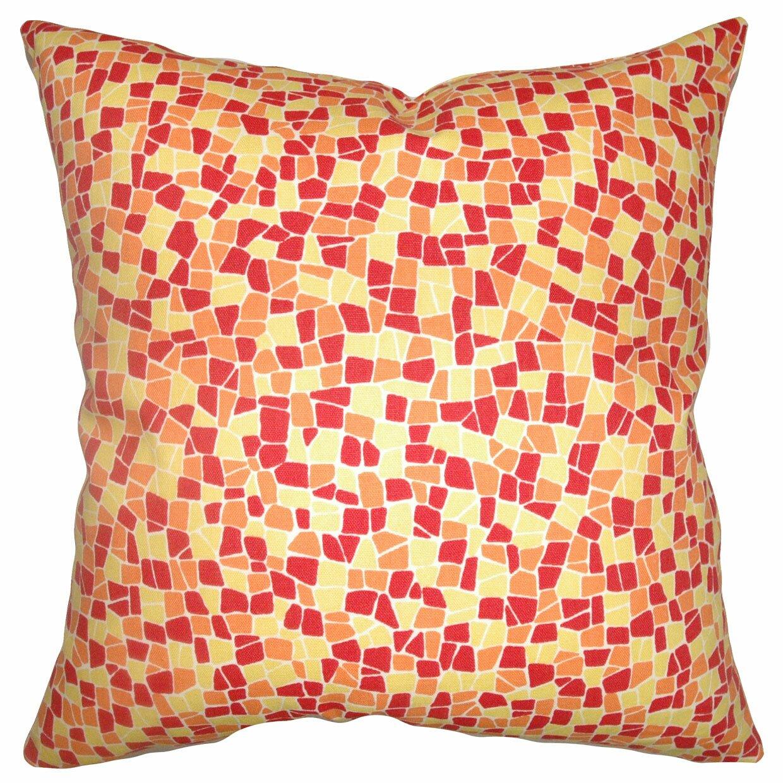 Throw Pillow Collections : The Pillow Collection Bentlee Mosaic Tile Cotton Throw Pillow & Reviews Wayfair