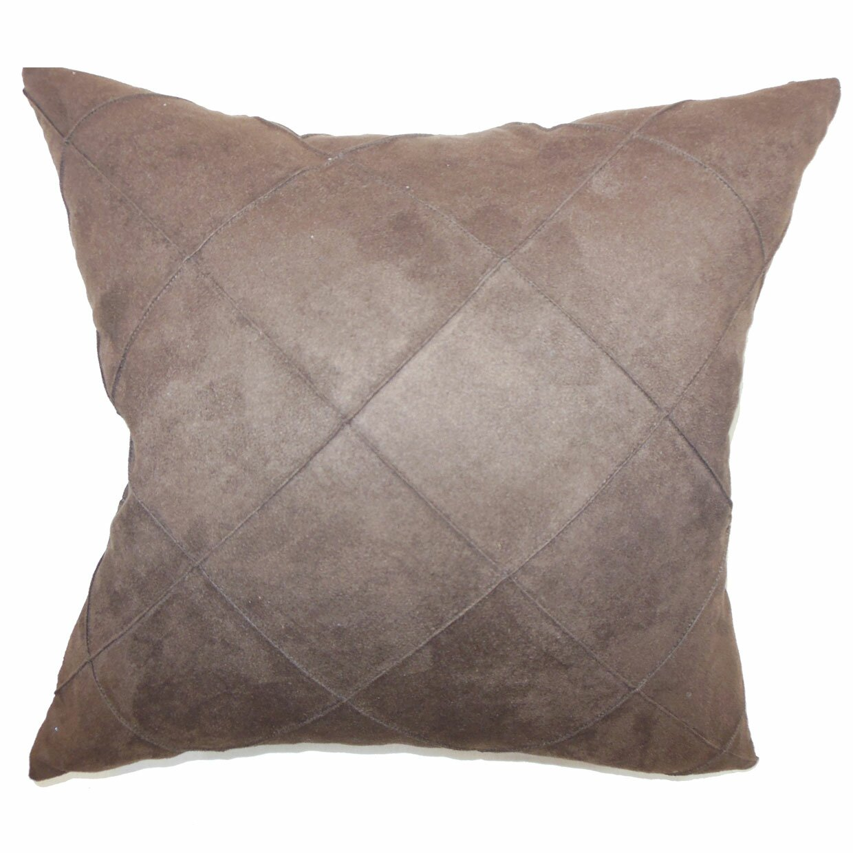The Pillow Collection Nesbitt Plain Faux Suede Throw Pillow & Reviews Wayfair
