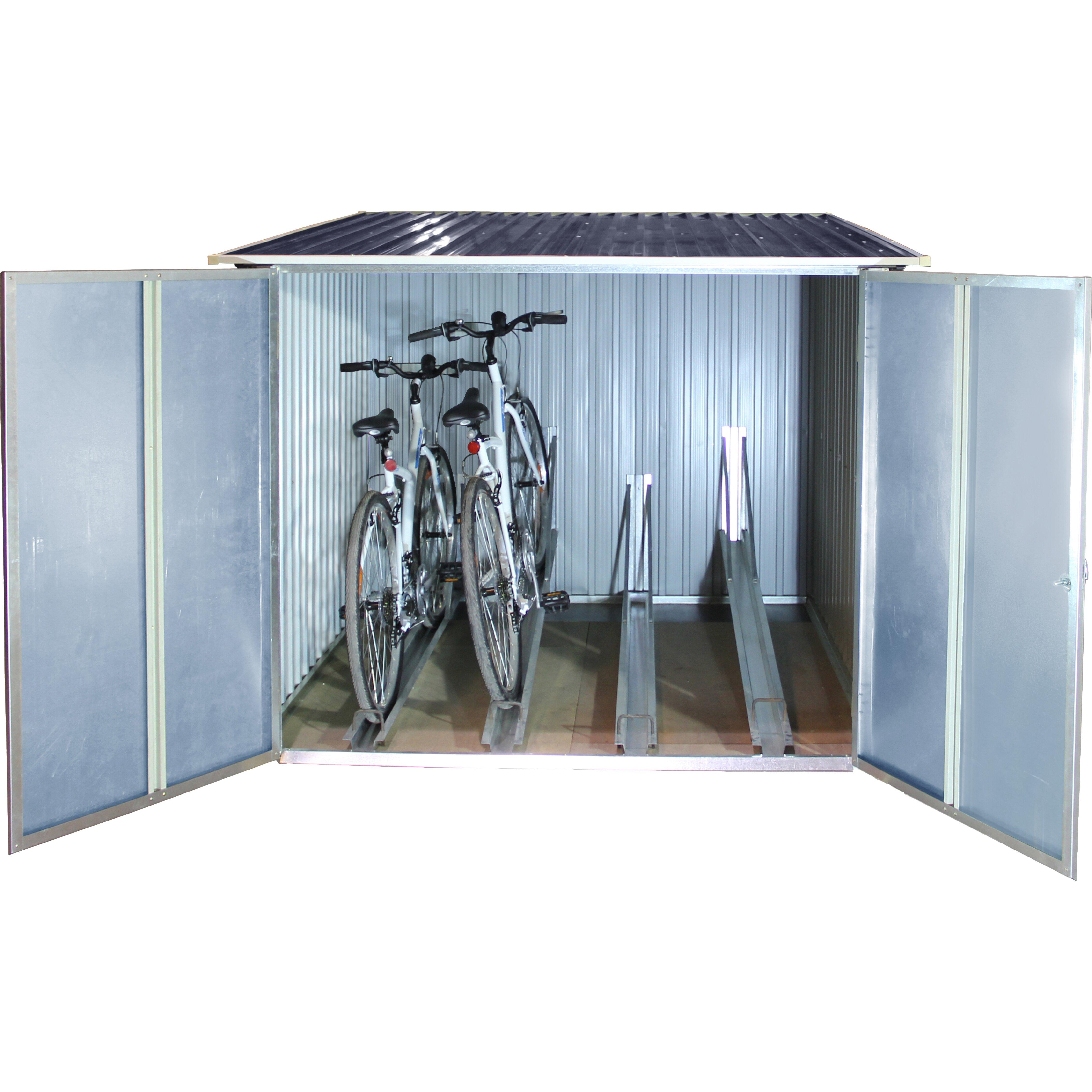 tepro 262 cm x 183 cm fahrradgarage aus metall reviews von manufacturer. Black Bedroom Furniture Sets. Home Design Ideas