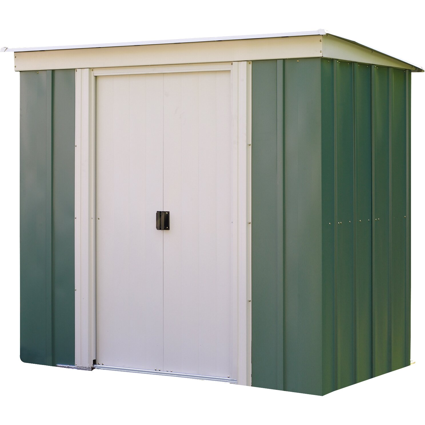 Rowlinson 6 x 4 metal lean to shed reviews wayfair uk for Garden shed 4 x 3