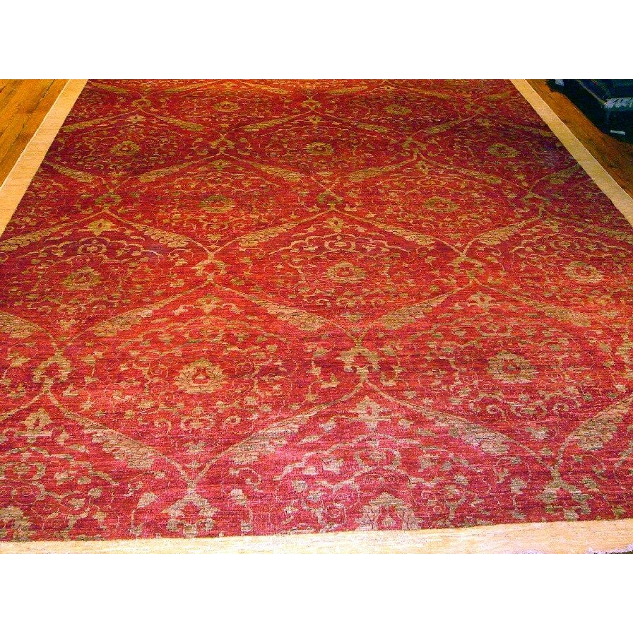 Pasargad modern contemporary transitional hand knotted for Red area rugs contemporary