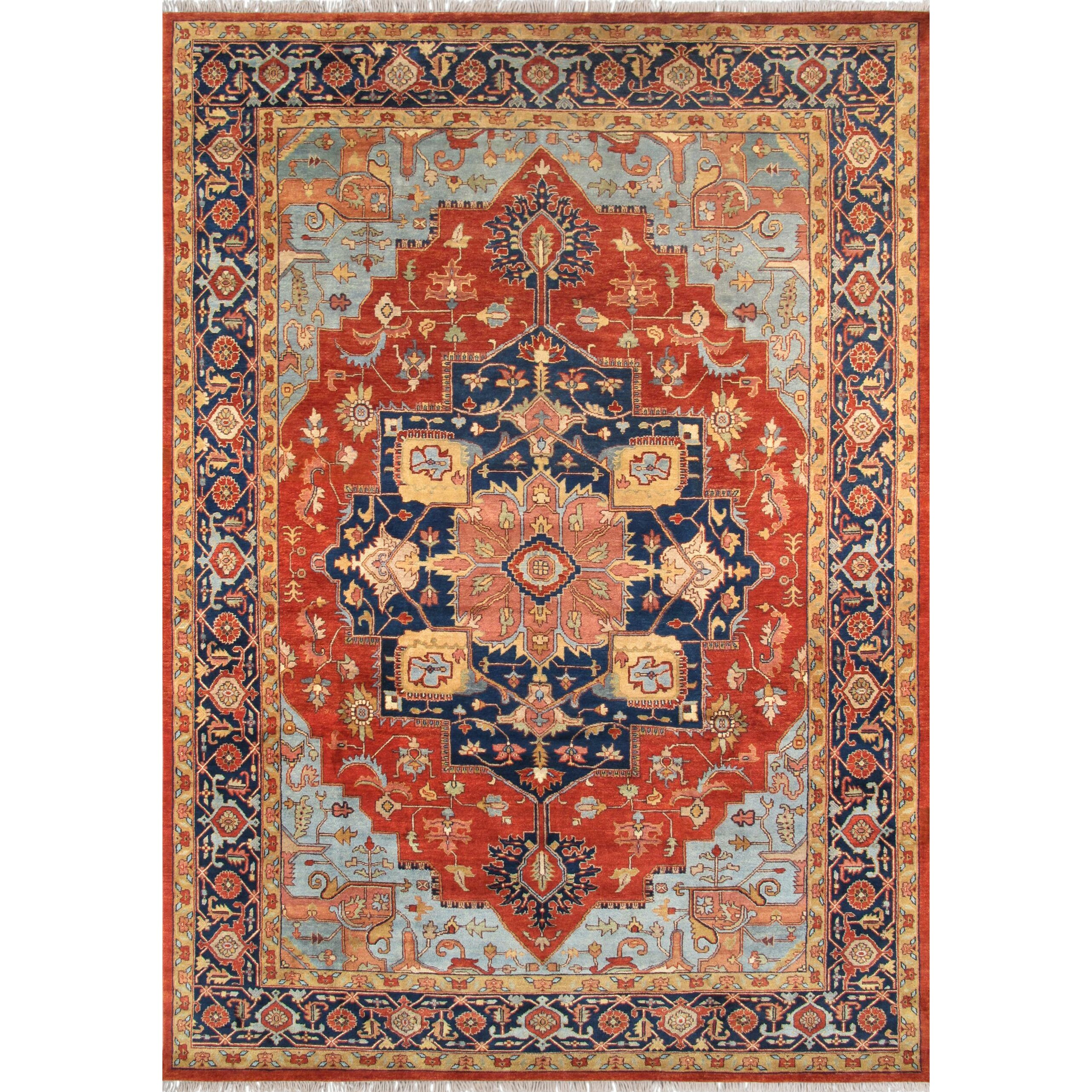 Pasargad Tribal Serapi Red/Navy Area Rug & Reviews