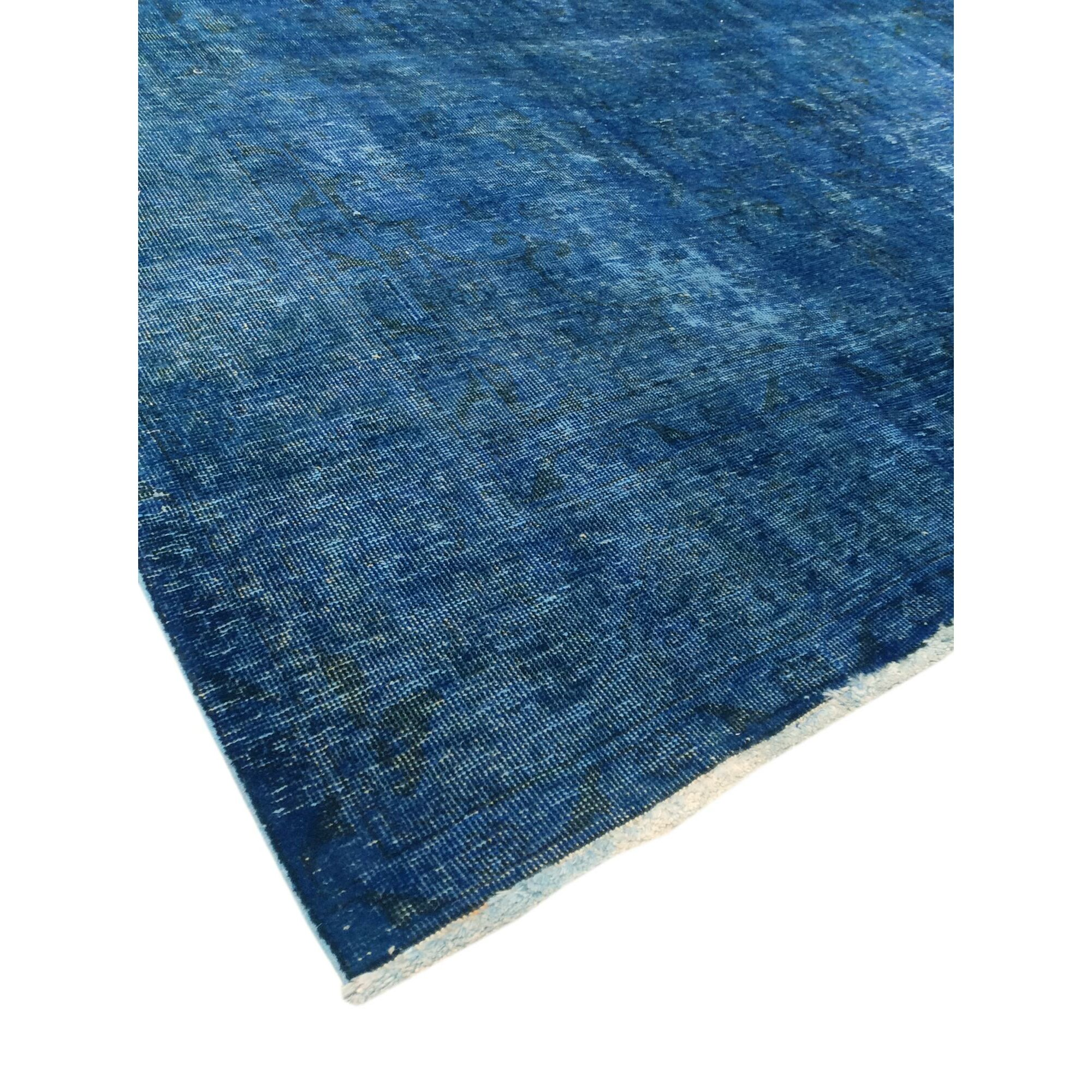 Pasargad Overdyed Hand Knotted Blue Area Rug Wayfair