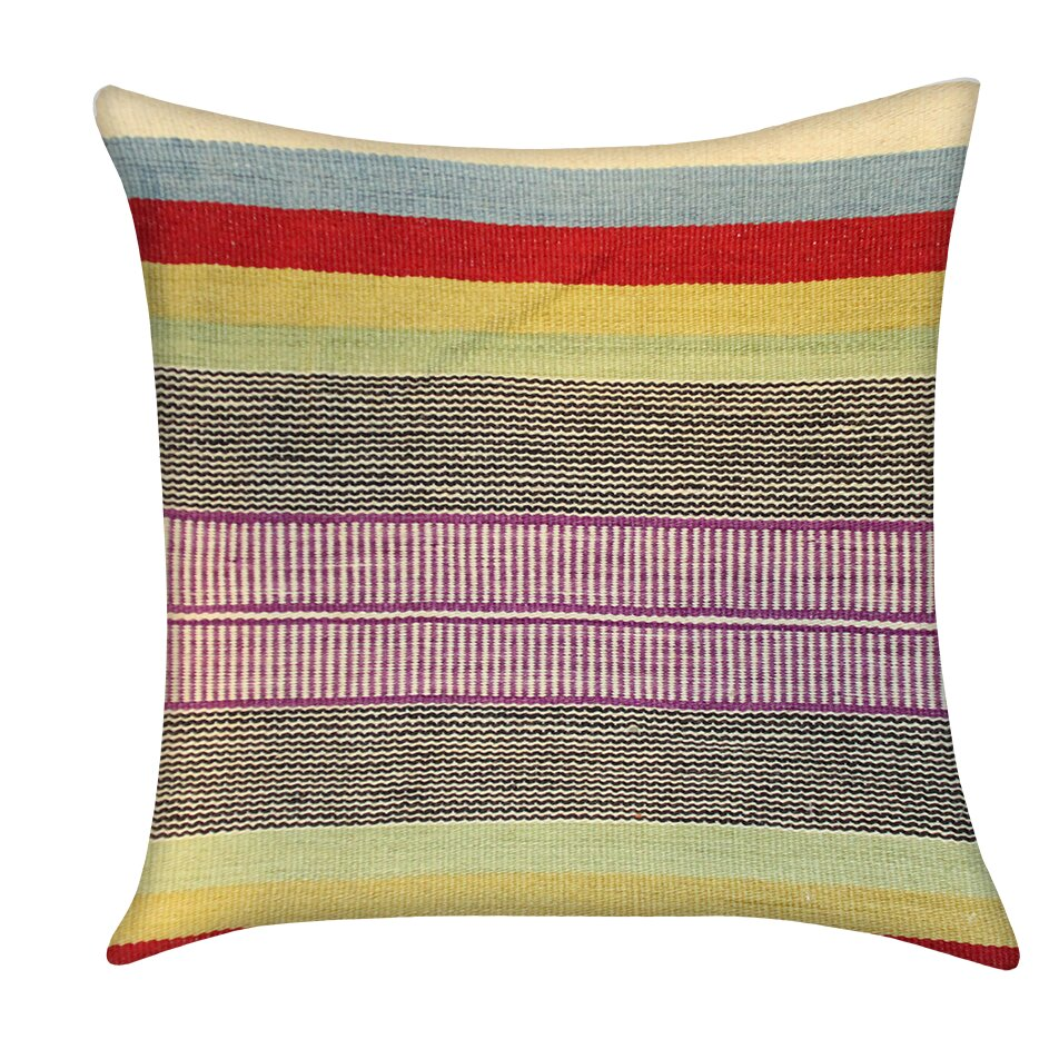Throw Pillows King Size Bed : Pasargad Kilim Decorative Wool Throw Pillow Wayfair
