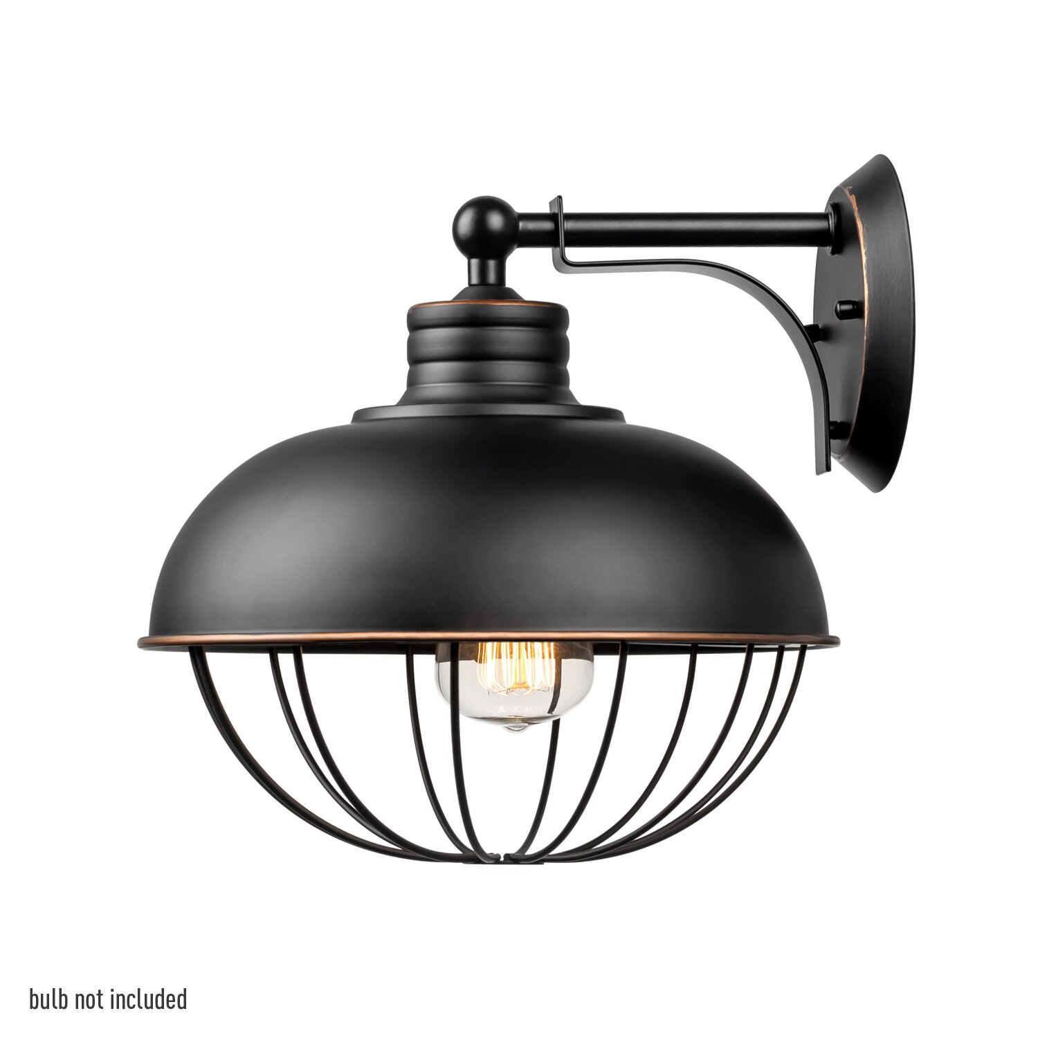 Globe electric company elior 1 light industrial caged wall for Wayfair industrial lamp