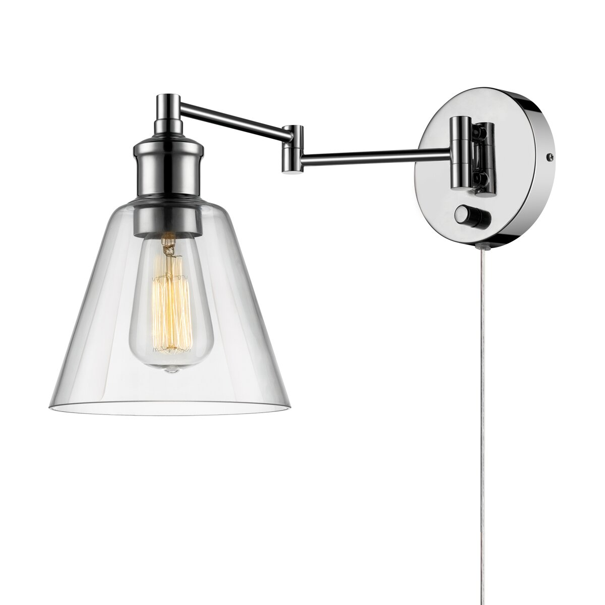 Wall Sconces Next To Tv : Globe Electric Company LeClair 1 Light Swing Arm Wall Sconce & Reviews Wayfair.ca