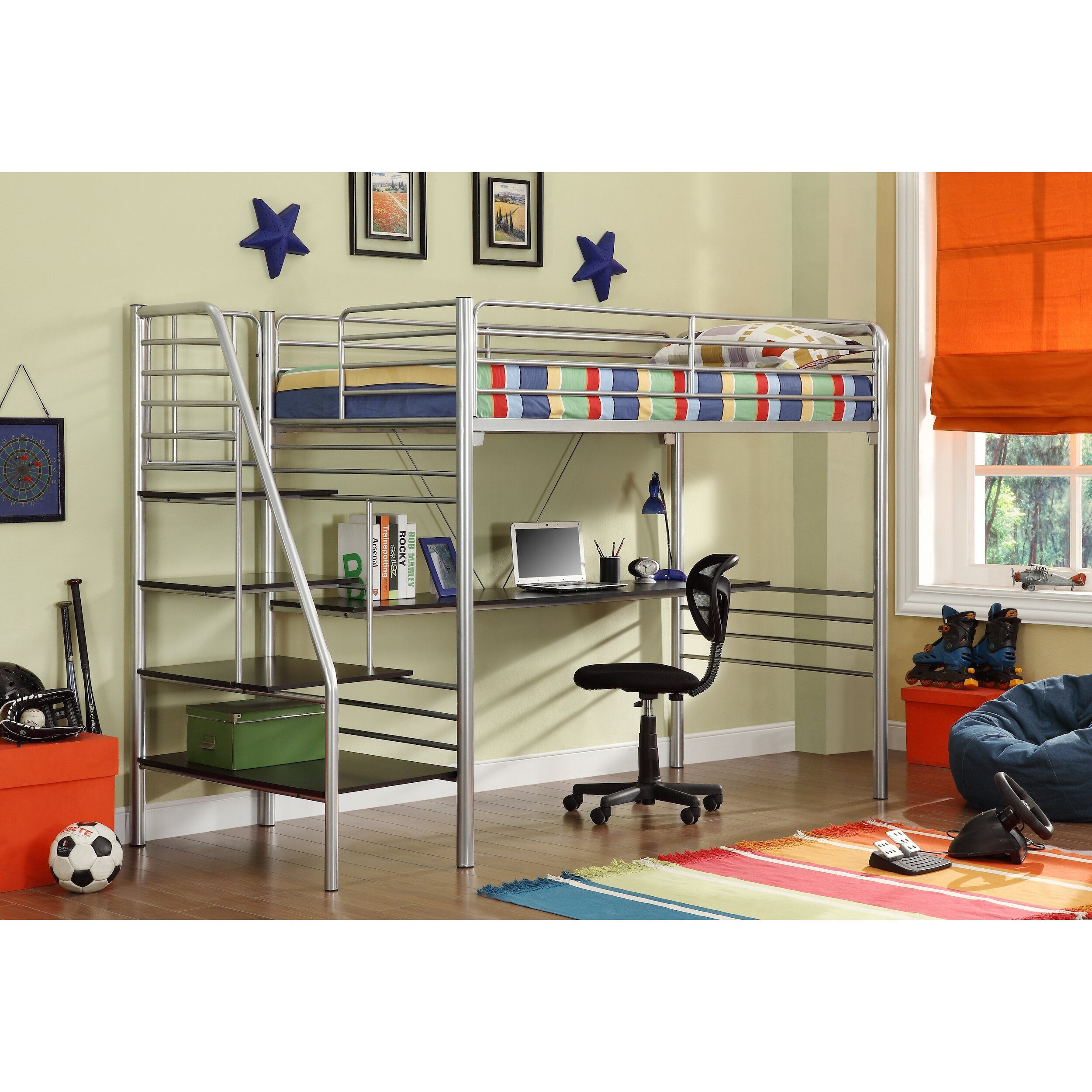 Donco Loft Bed With Stairs