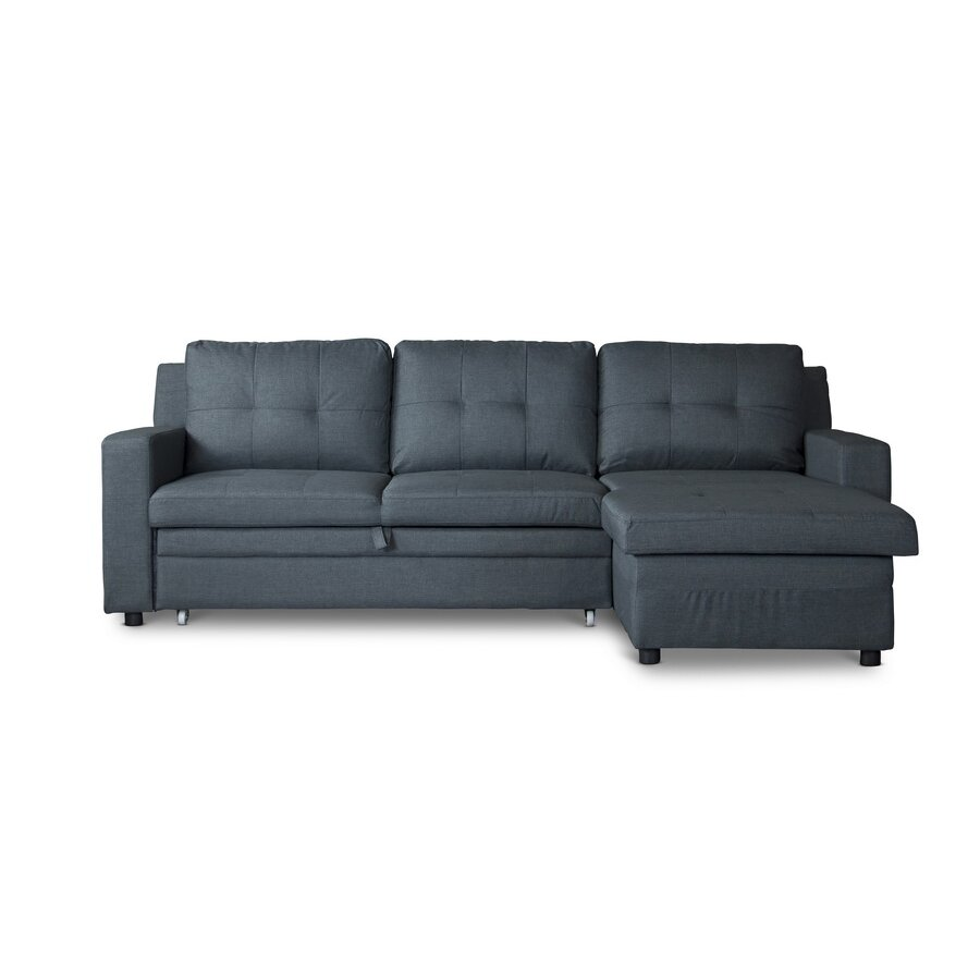 Wholesale interiors baxton studio sleeper sectional for Sleeper sectional