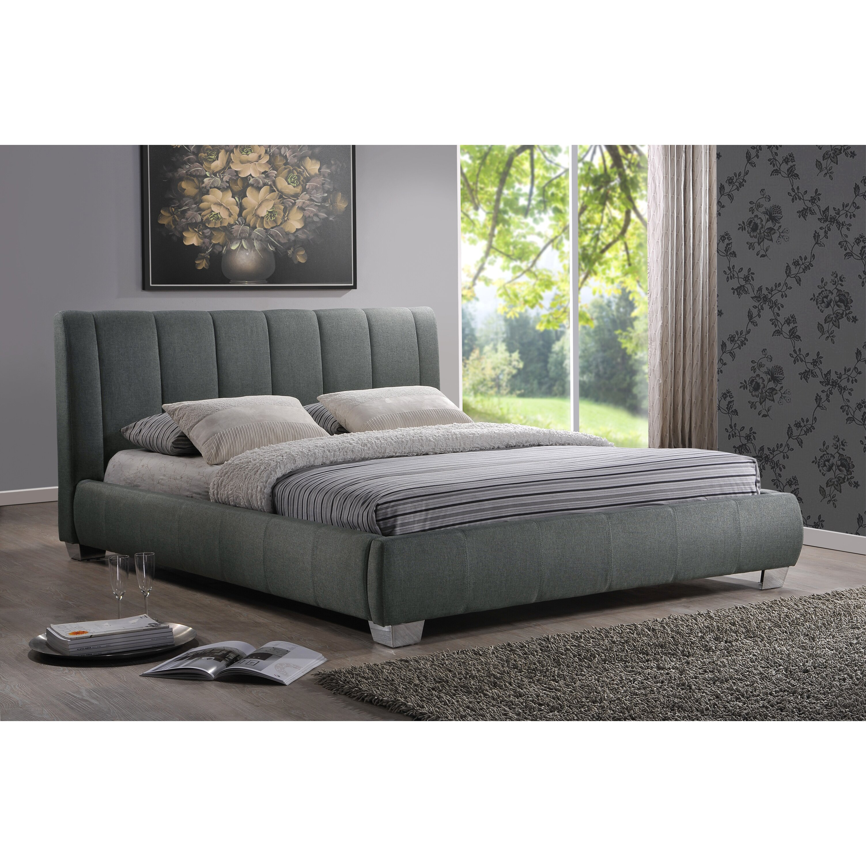 baxton studio bed interiors baxton studio upholstered 10515