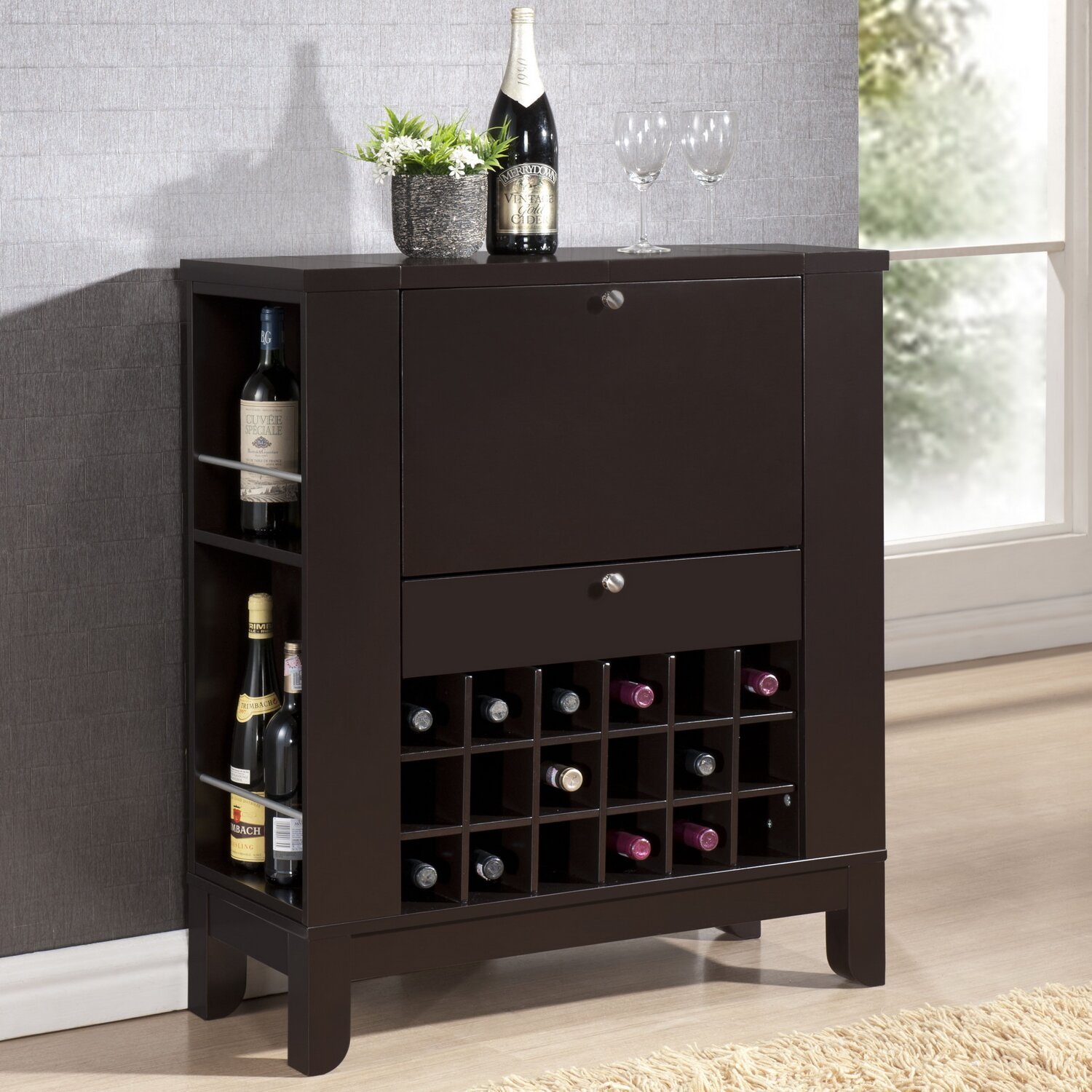 Wholesale interiors baxton studio wine bar reviews wayfair Home wine bar furniture