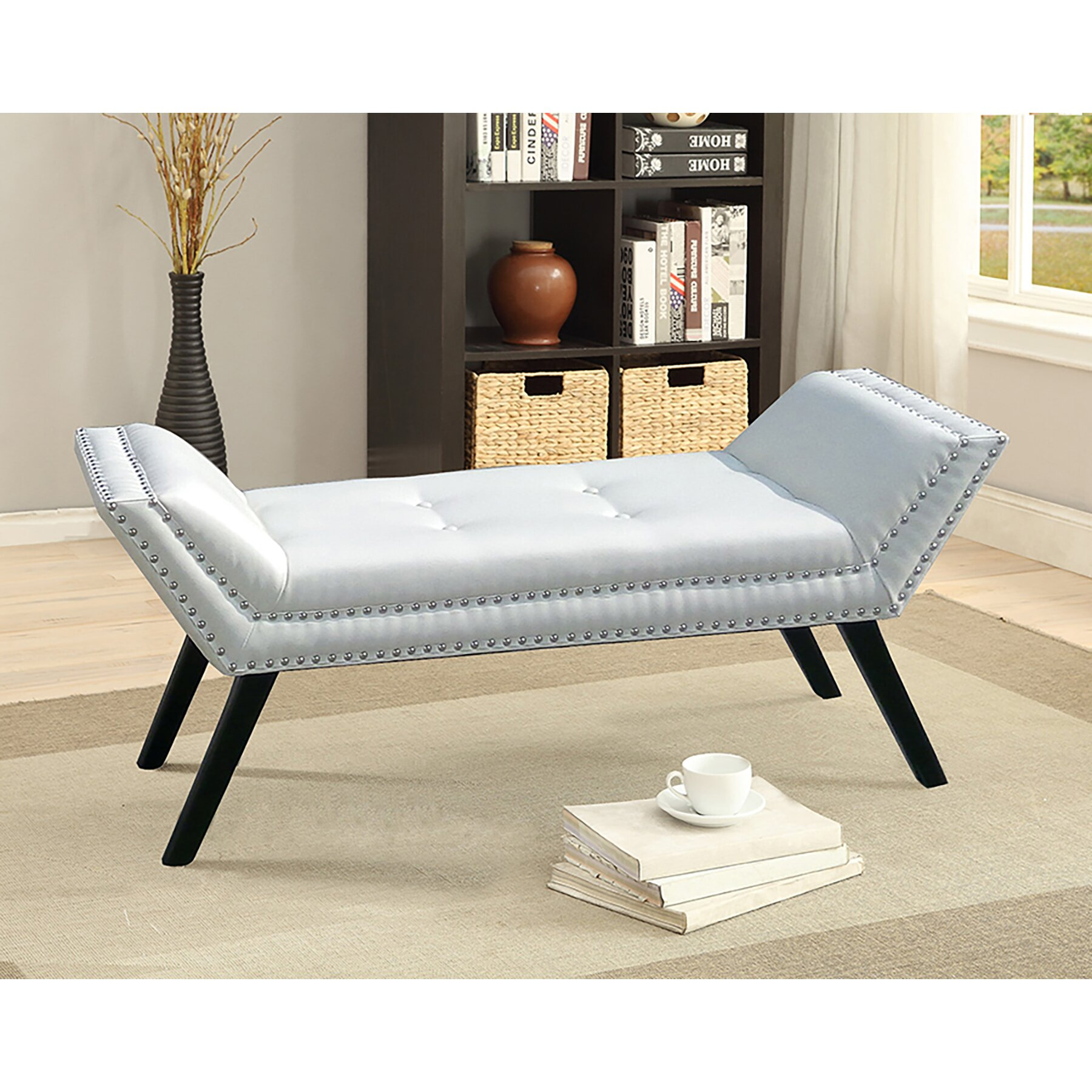 Wholesale interiors baxton studio upholstered bedroom for Bedroom upholstered bench