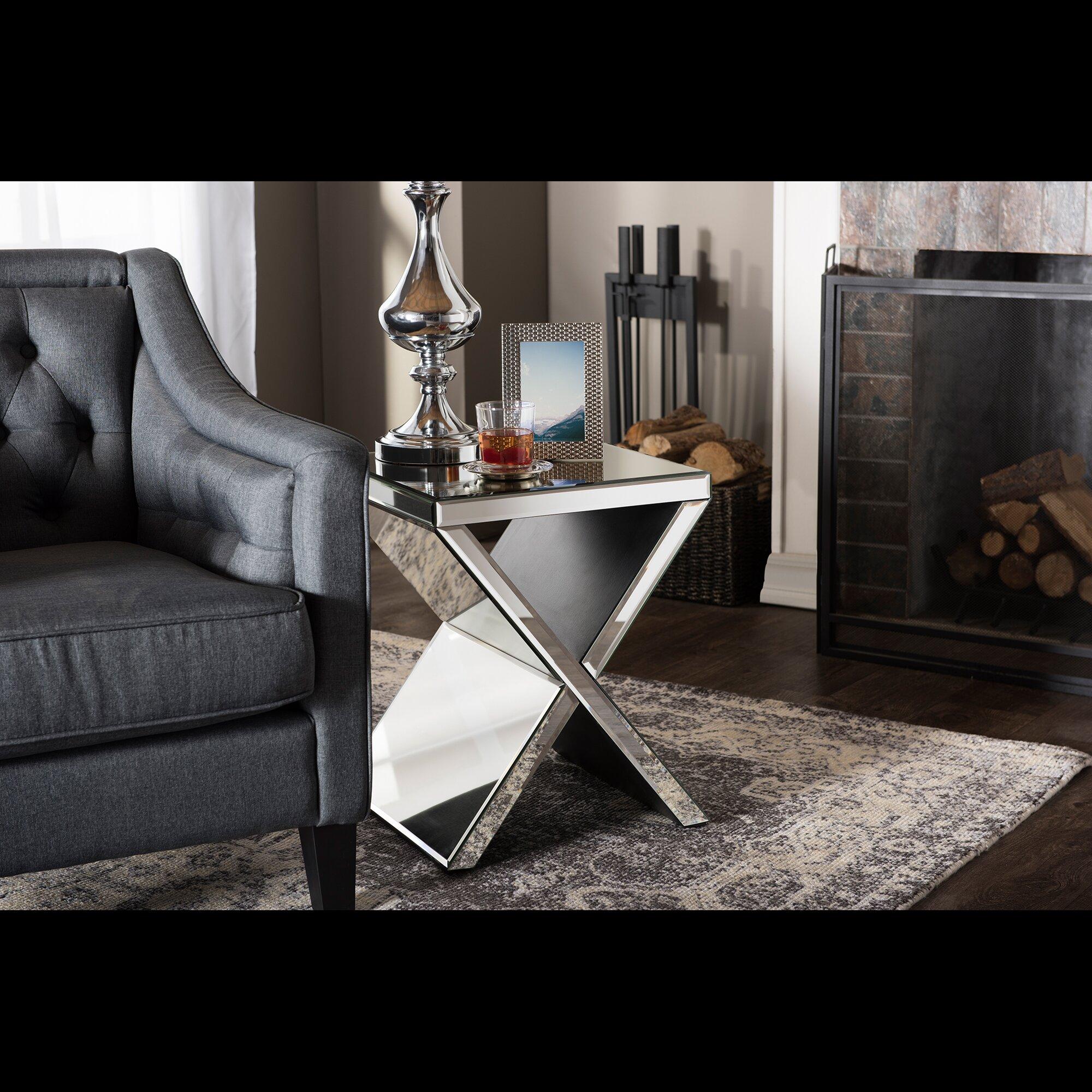 wholesale interiors baxton studio morris end table