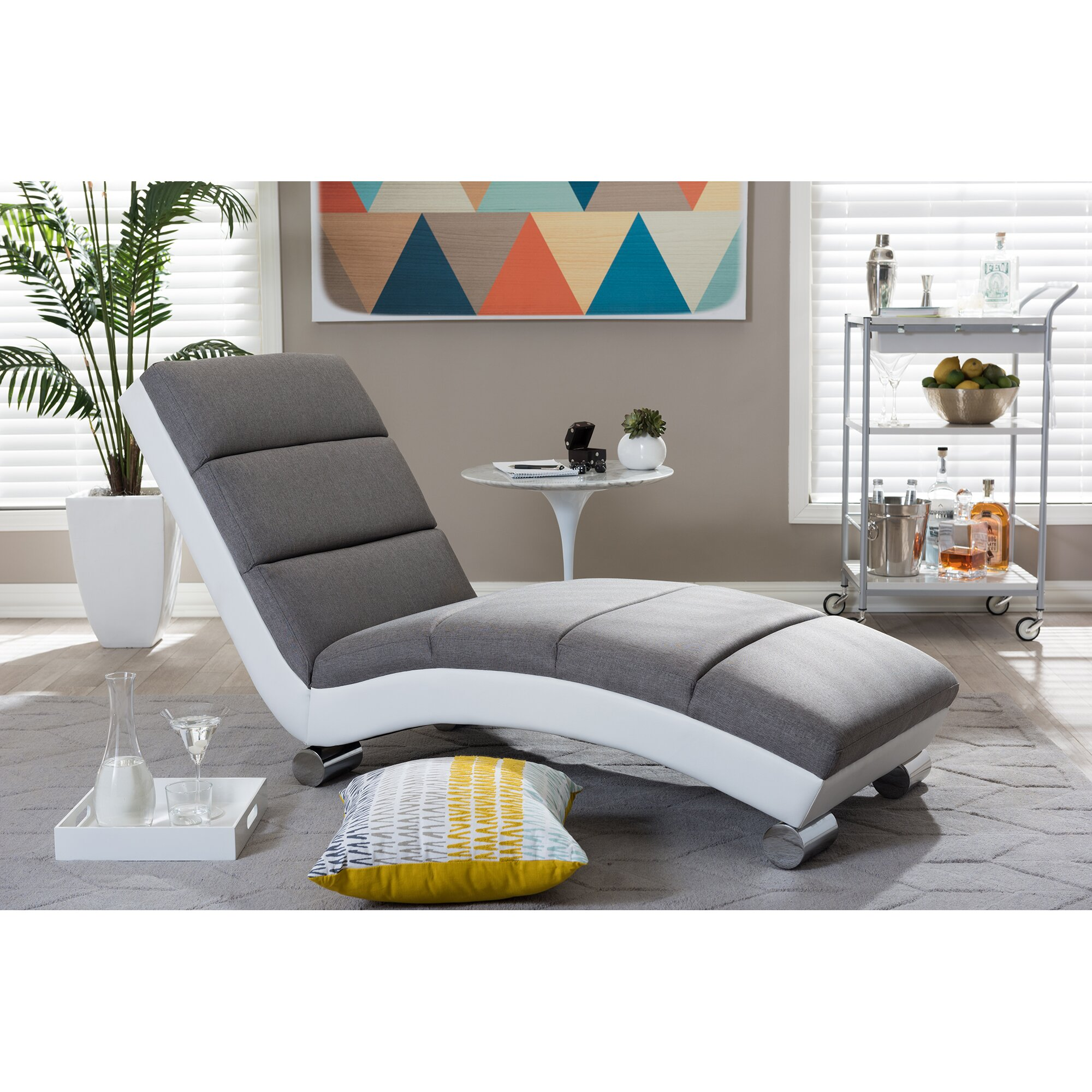 Wholesale interiors baxton studio chaise lounge reviews for Chaise interiors