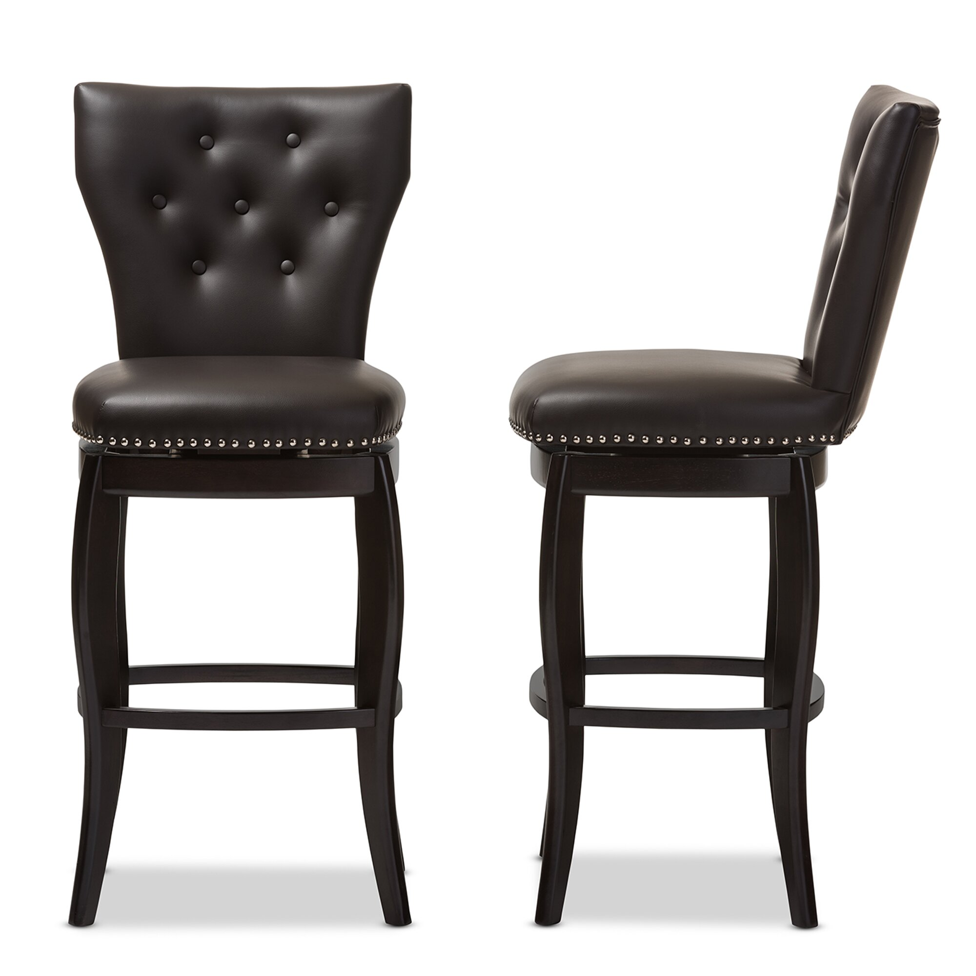 Wholesale Interiors Baxton Studio 30 42 Quot Swivel Bar Stool