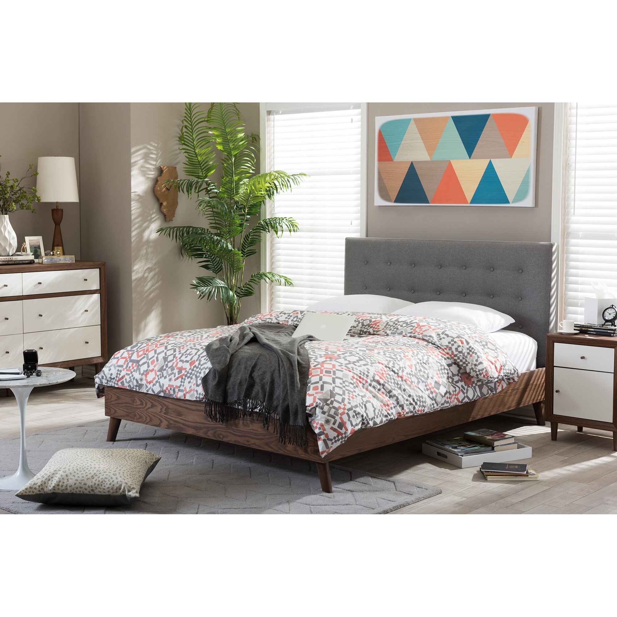 Modenr Studio Plaform Bed Frme Twin