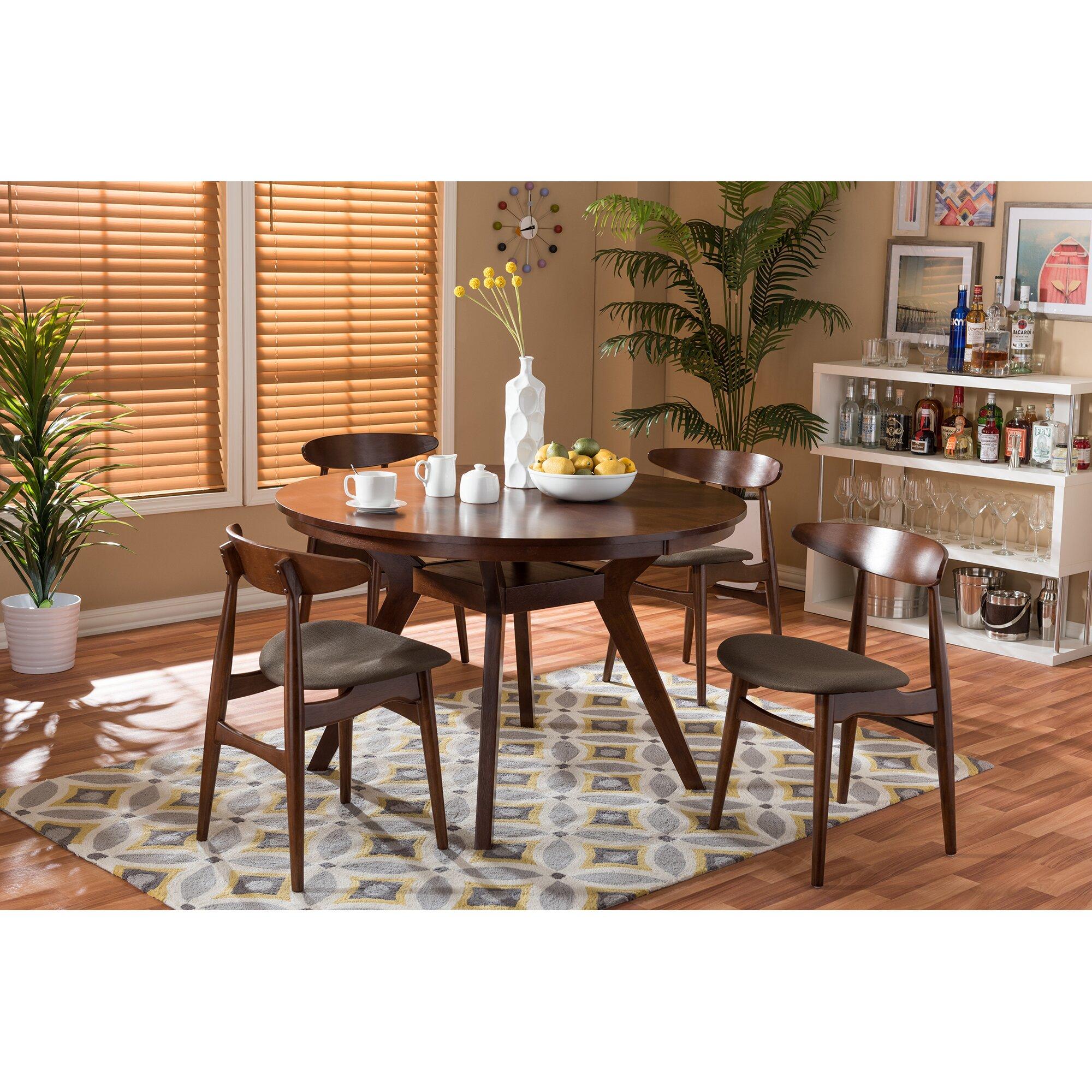 wholesale interiors baxton studio flamingo 5 piece dining
