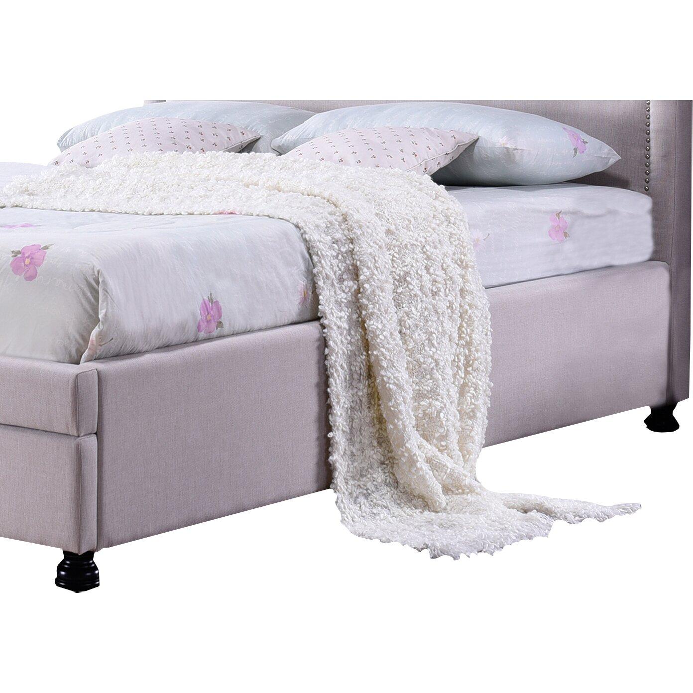 Wholesale Interiors Baxton Studio King Upholstered Storage Platform Bed Reviews Wayfair