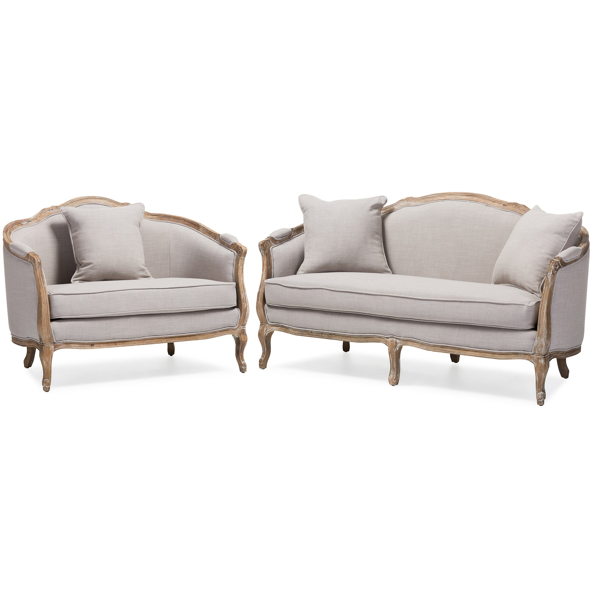 Wholesale interiors baxton studio benito sofa and loveseat for Whole living room furniture sets