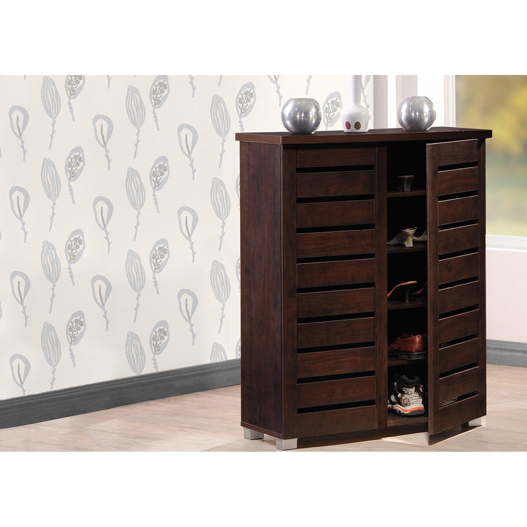 wholesale interiors baxton studio adalwin 15 pair shoe storage cabinet reviews wayfair. Black Bedroom Furniture Sets. Home Design Ideas