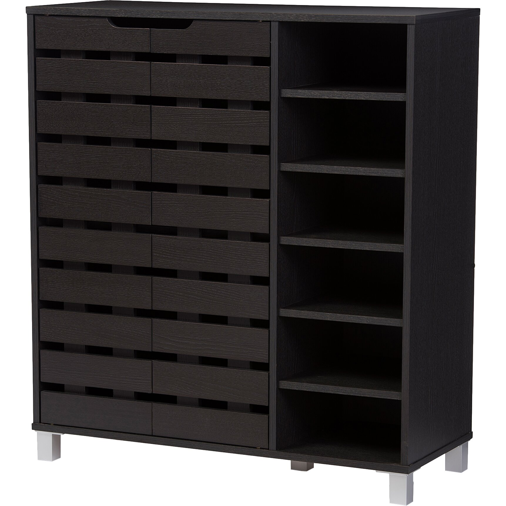 wholesale interiors baxton studio shirley 18 pair shoe. Black Bedroom Furniture Sets. Home Design Ideas