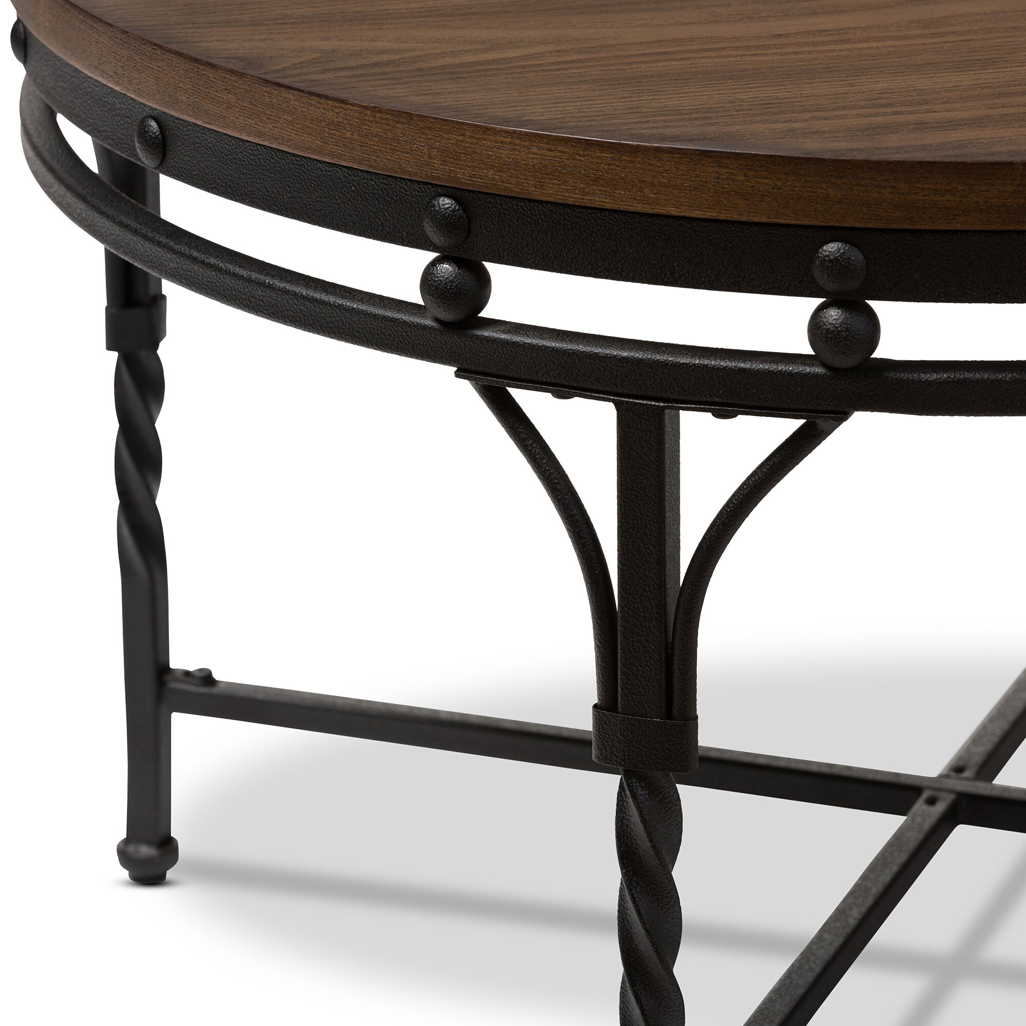Bronze Industrial Coffee Table: Wholesale Interiors Baxton Studio Coffee Table & Reviews