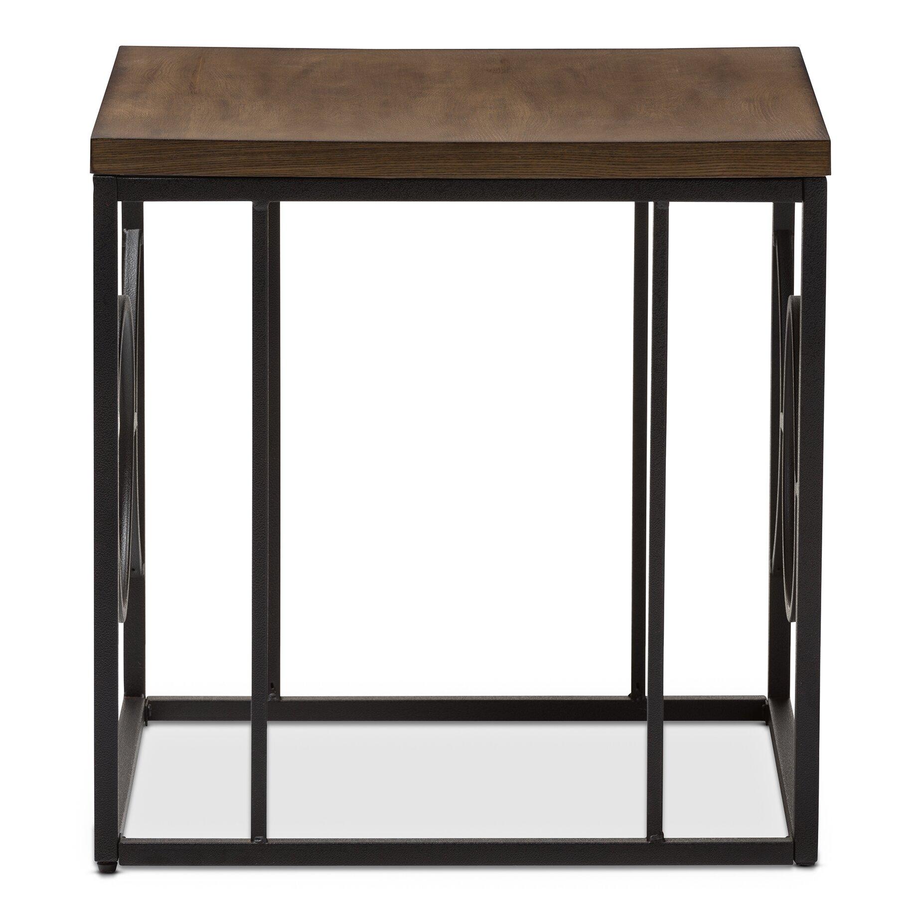 wholesale interiors baxton studio end table wayfair