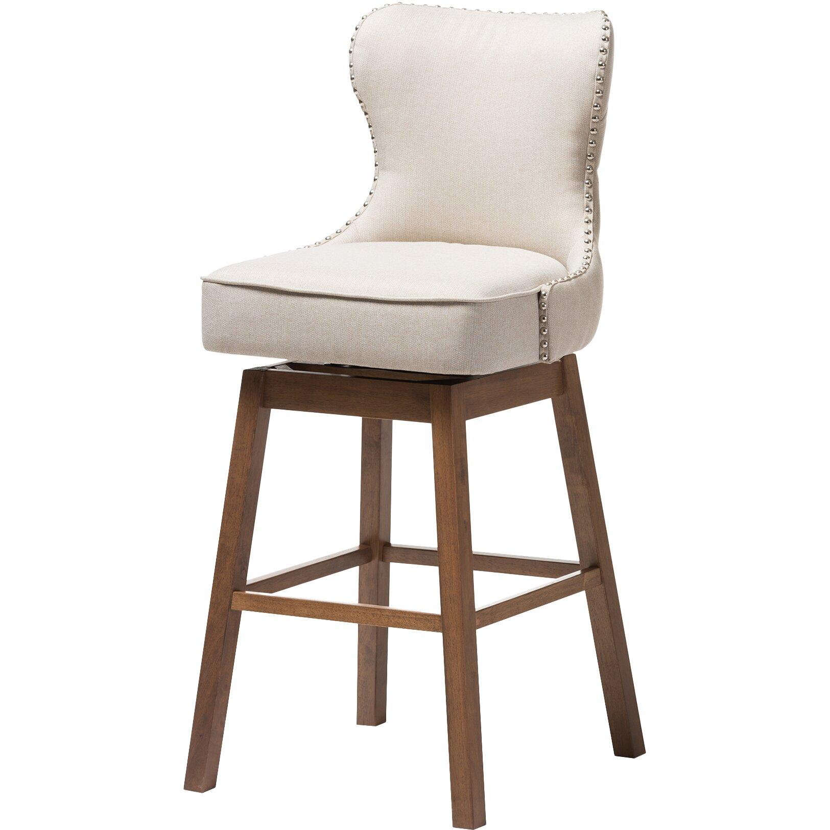 Wholesale interiors baxton studio swivel bar stool for Baxton studio