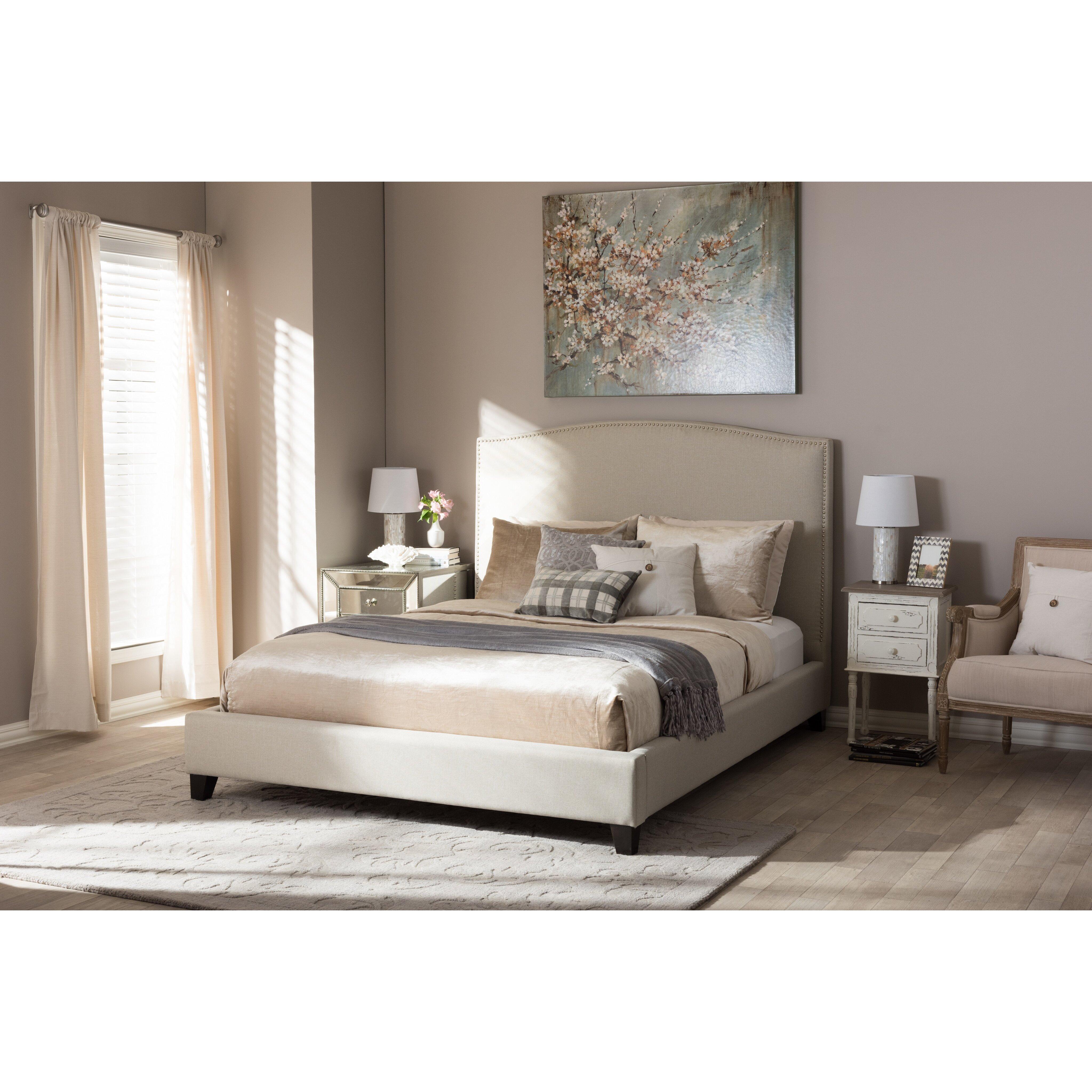 wholesale interiors baxton studio upholstered platform bed reviews wayfair