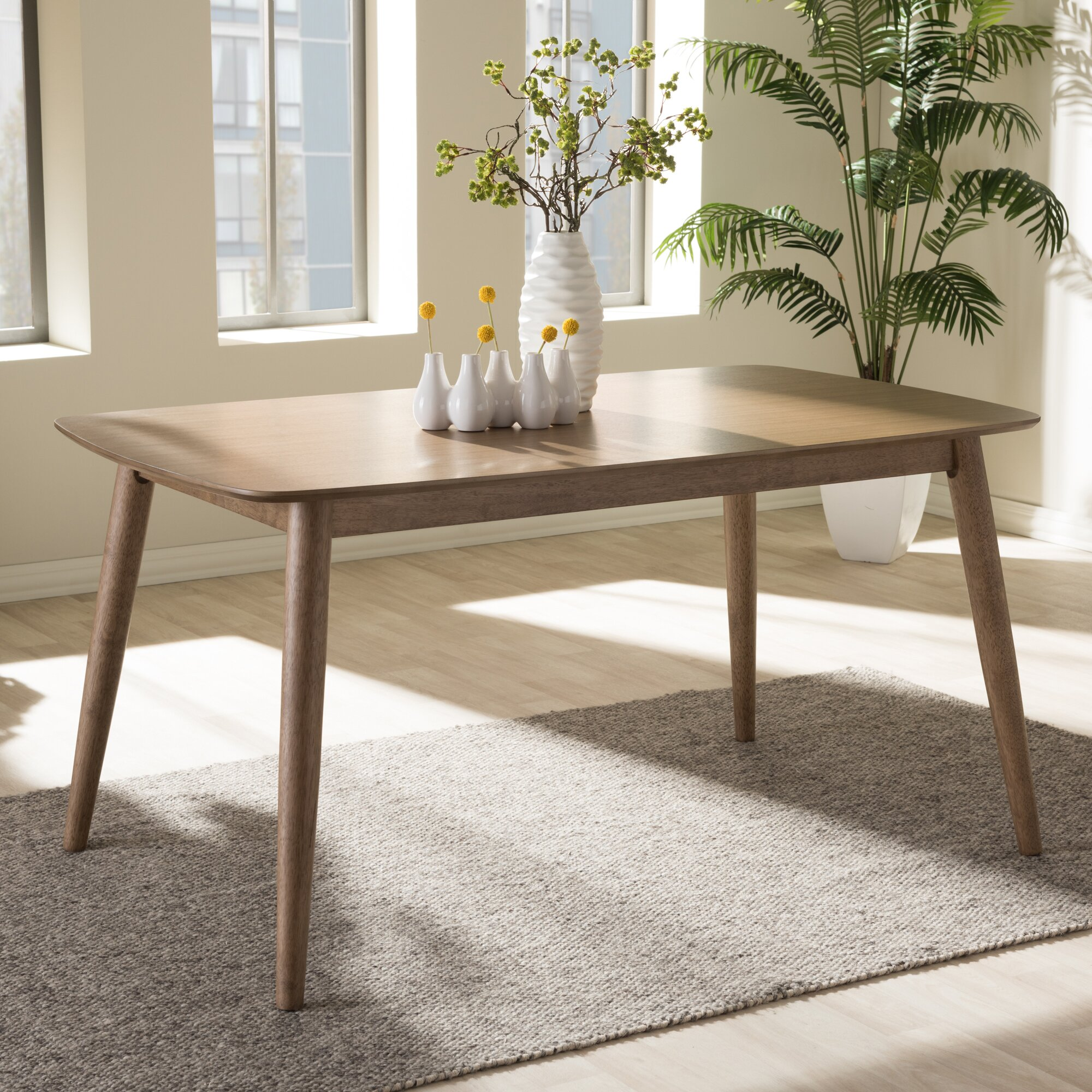 Mid Century Modern Dining: Wholesale Interiors Baxton Studio Dining Table & Reviews