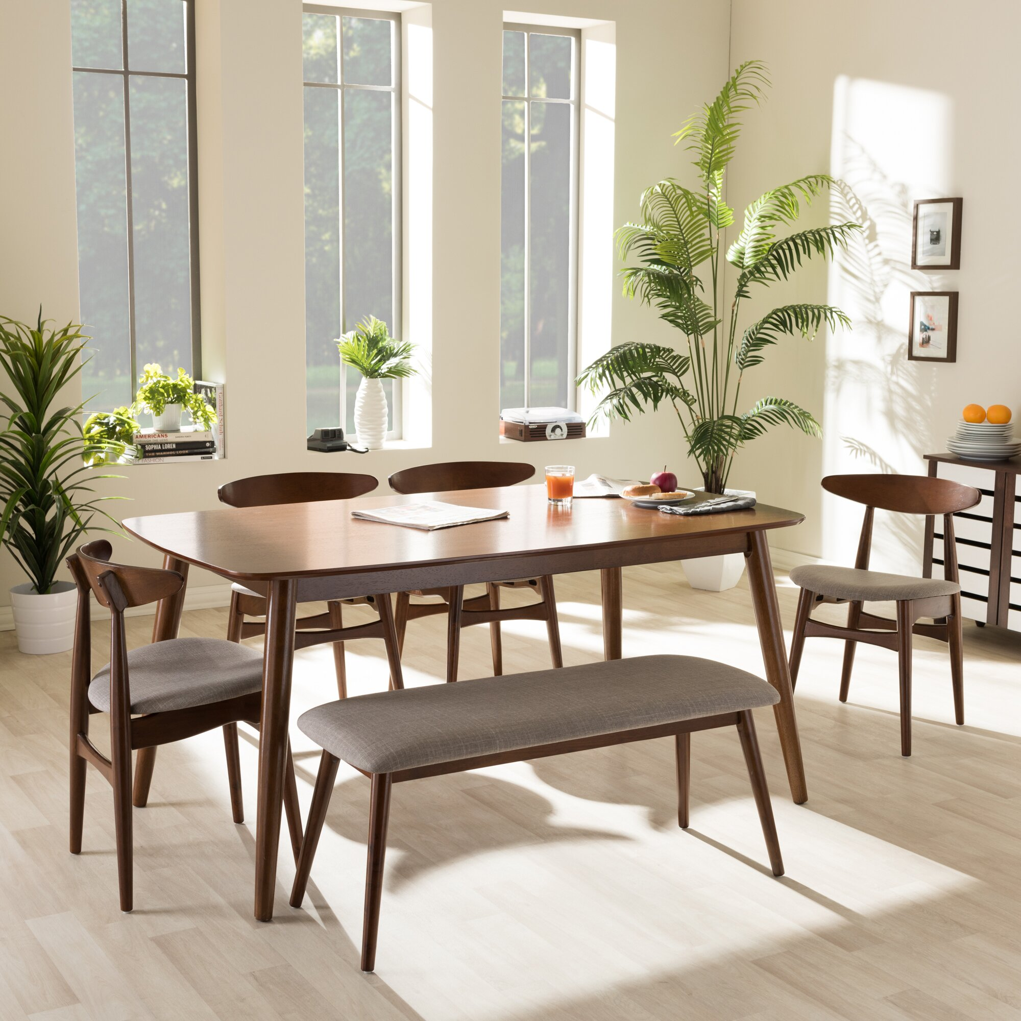 Wholesale Interiors Baxton Studio 6 Piece Dining Set
