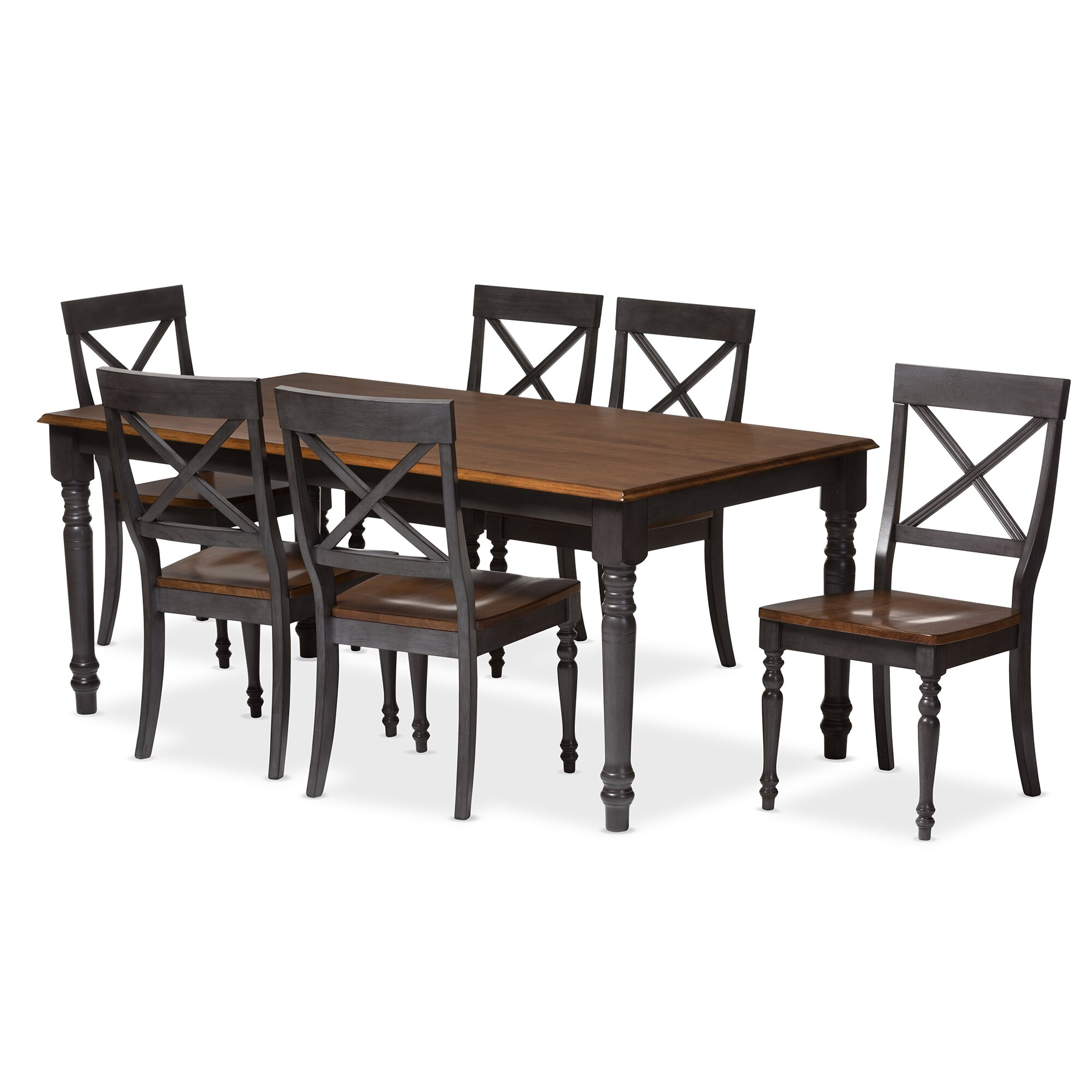 Wholesale interiors baxton studio pia 7 piece dining set for 7 piece dining set