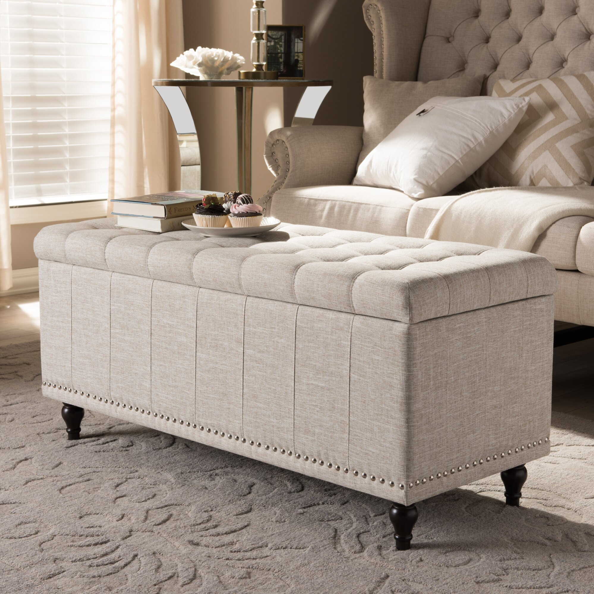 wholesale interiors baxton studio luca upholstered storage