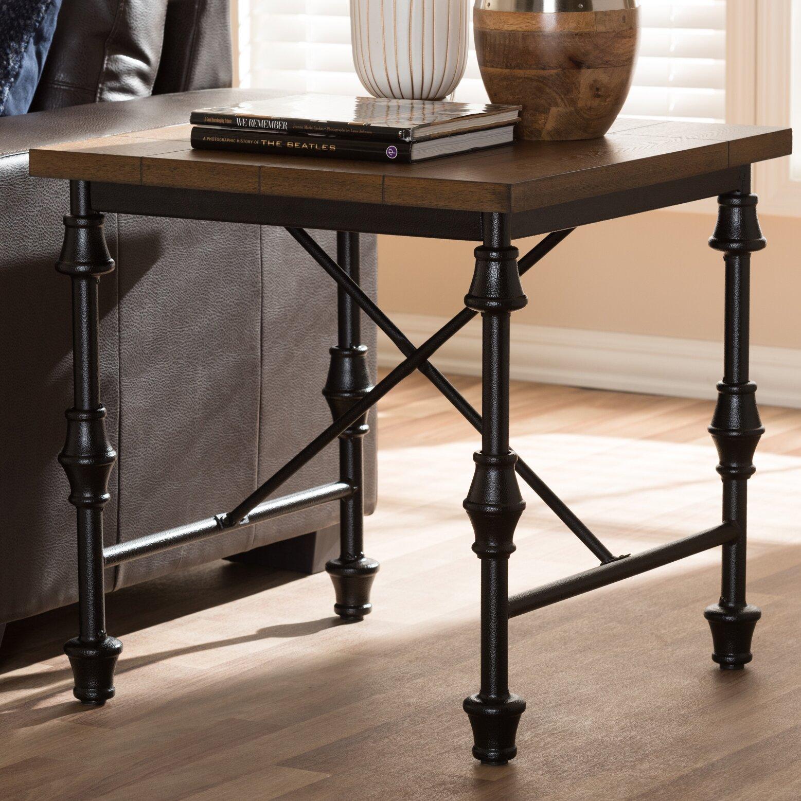 wholesale interiors baxton studio julian end table reviews wayfair