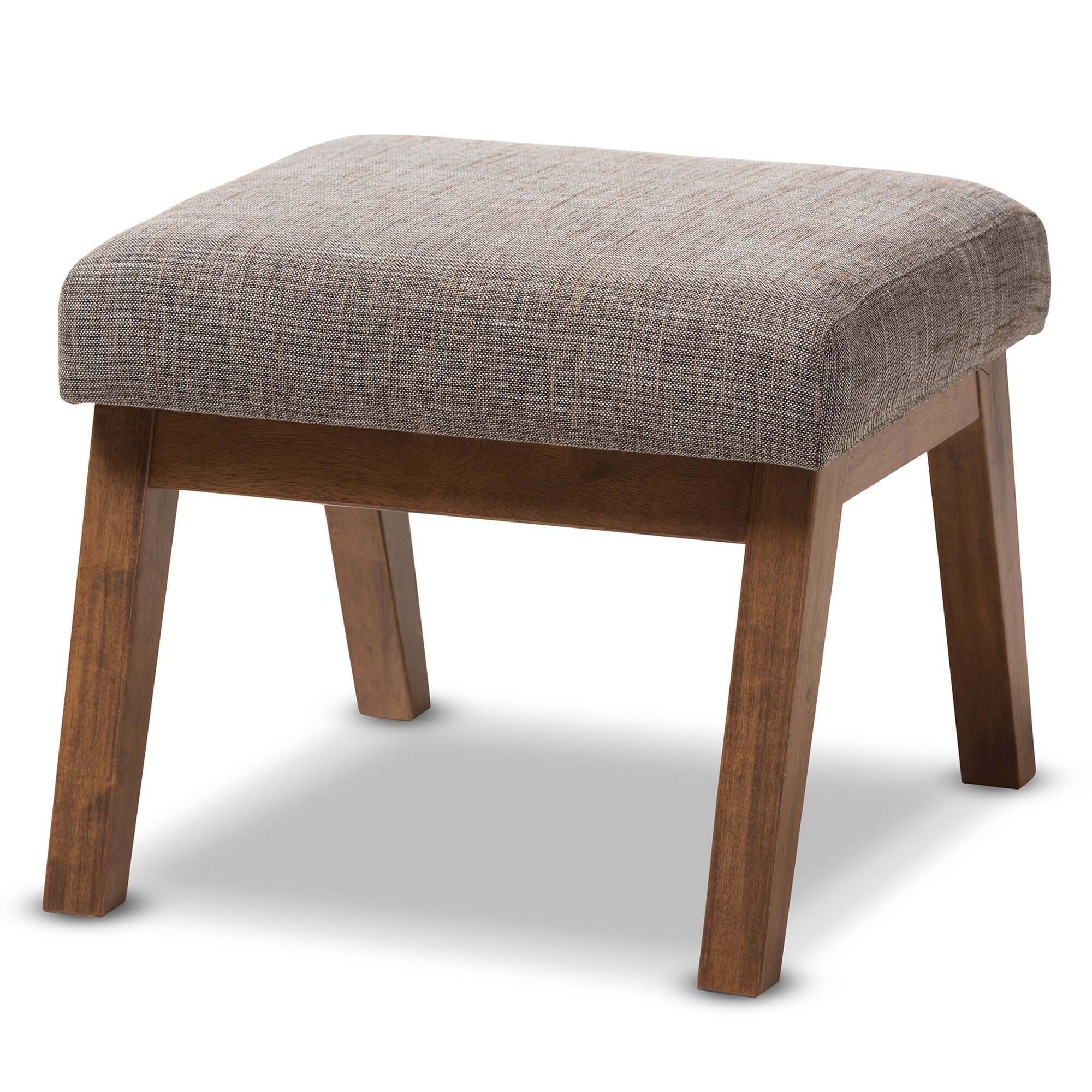 Contemporary Wooden Ottoman ~ Wholesale interiors baxton studio gerardo upholstered