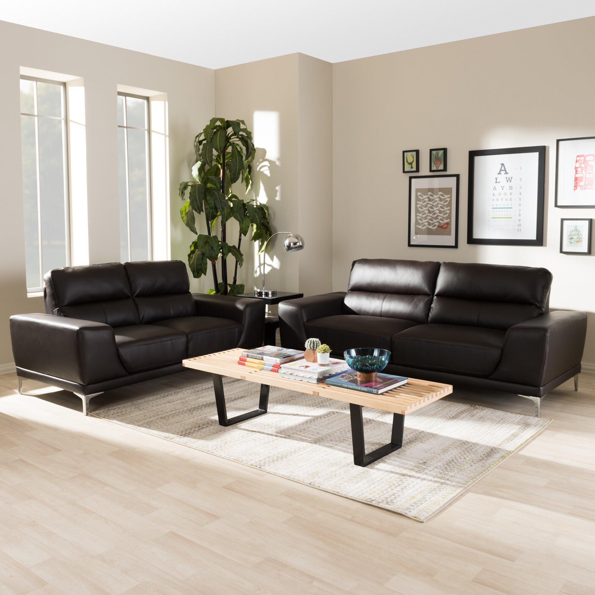 Wholesale interiors baxton studio lambton 2 piece living room set