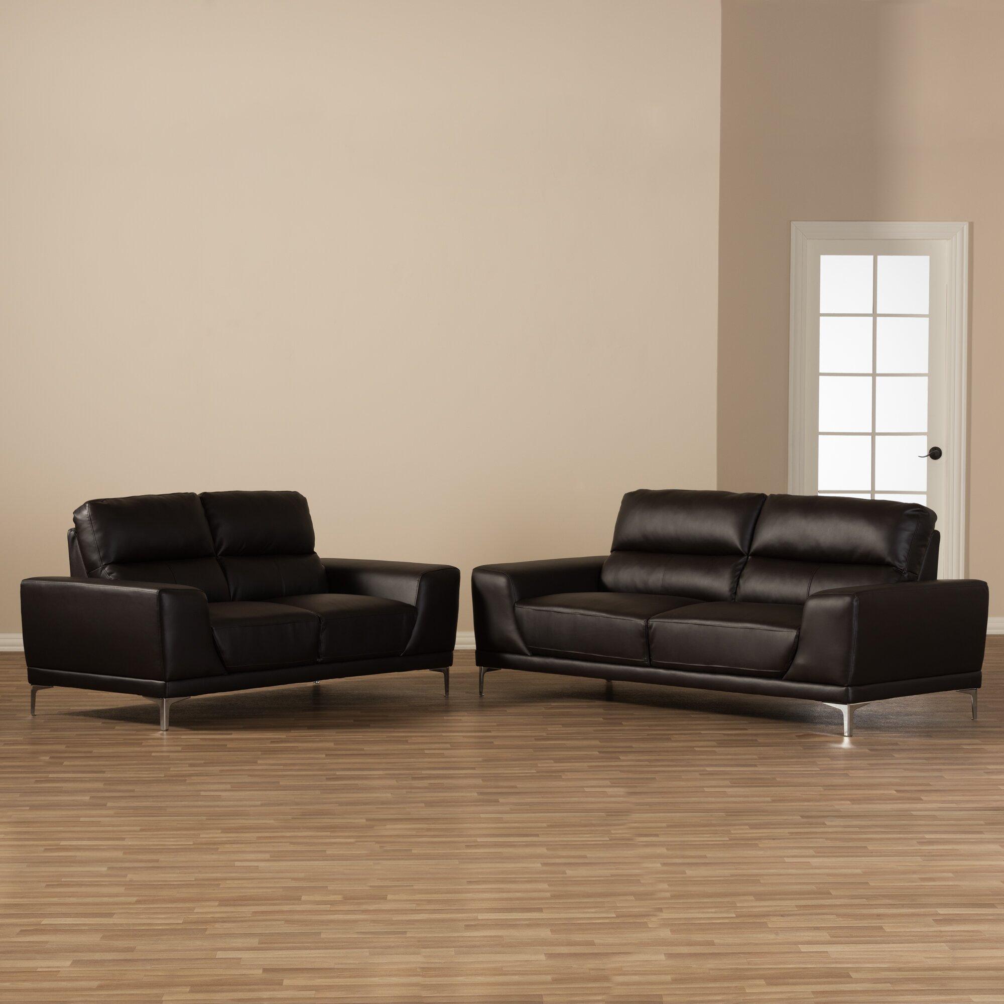 Wholesale interiors baxton studio lambton 2 piece living for 2 piece living room set