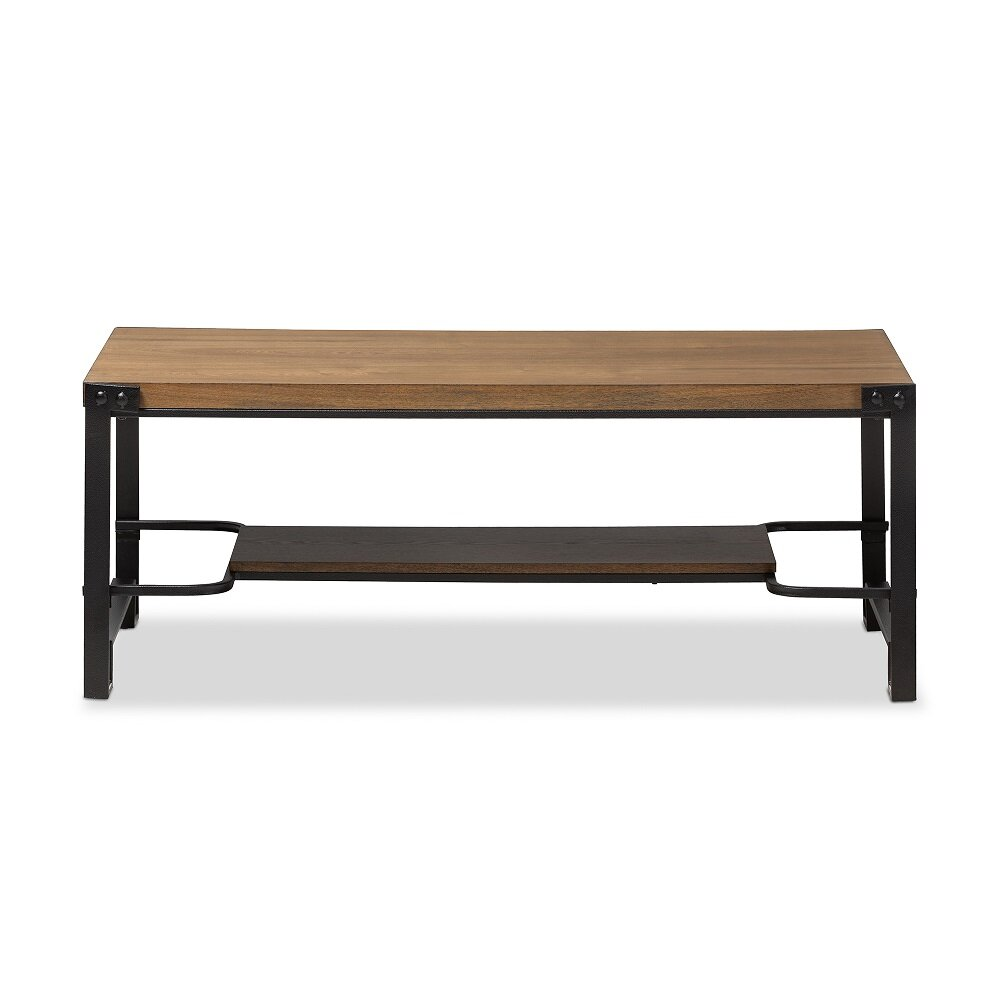 wholesale interiors baxton studio gibson coffee table with magazine