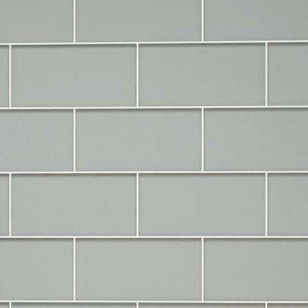 Giorbello 3 Quot X 6 Quot Glass Subway Tile In Gray Amp Reviews