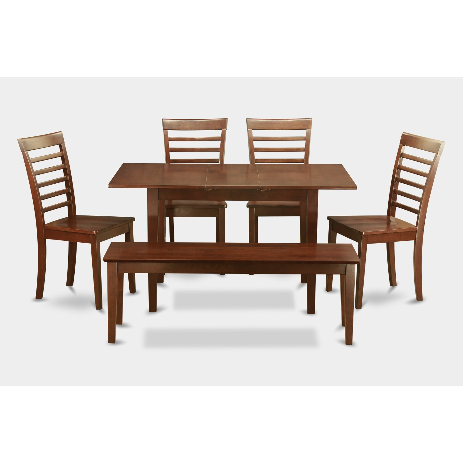 East west norfolk 6 piece dining set reviews wayfair for 6 piece dining room set
