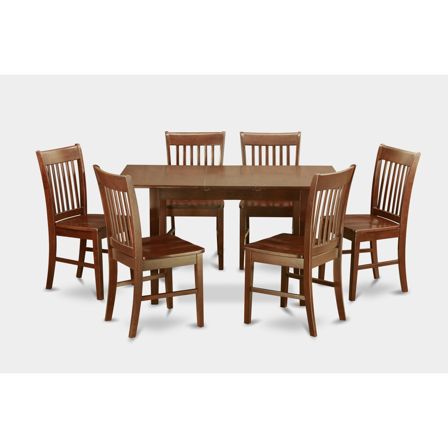 East west norfolk 7 piece dining set reviews wayfair for 7 piece dining room set
