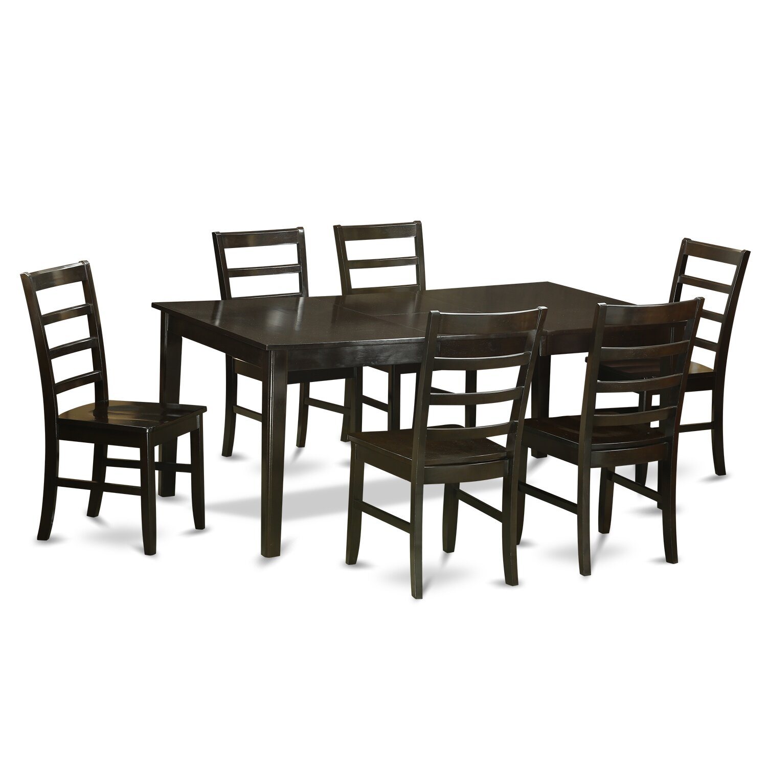 East west henley 7 piece dining set wayfair for 7 pc dining room set