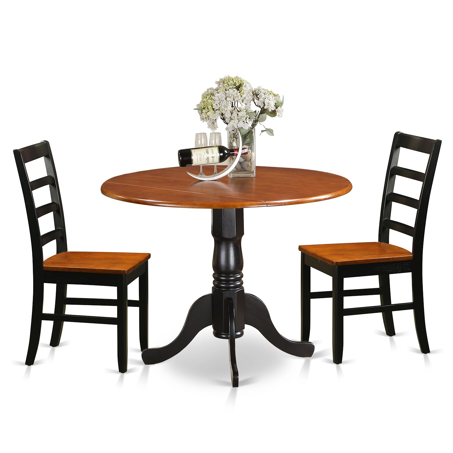 East west 3 piece dining set wayfair for 3 piece dining room set