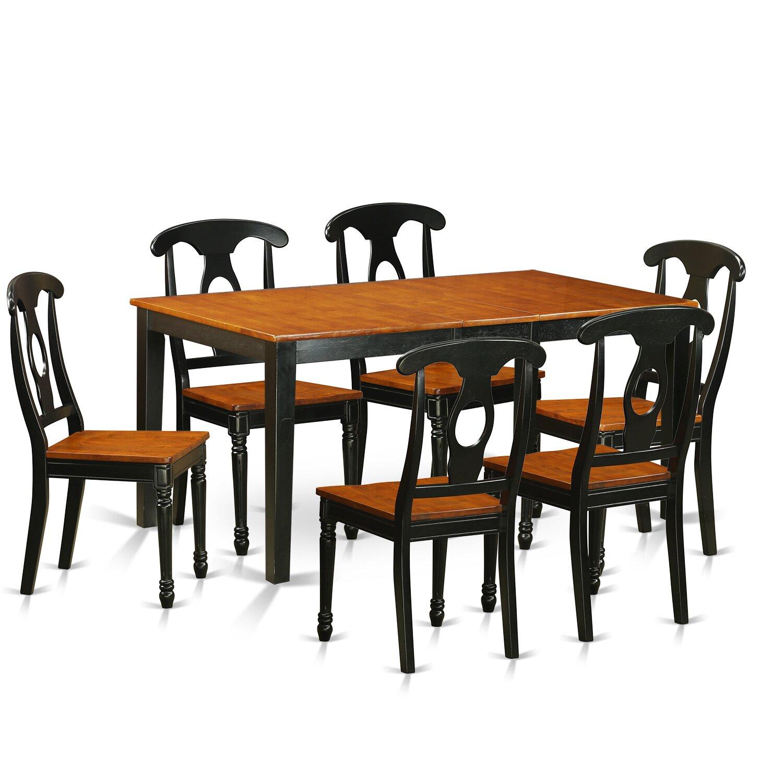 East West Nicoli 6 Piece Dining Set: East West Nicoli 7 Piece Dining Set